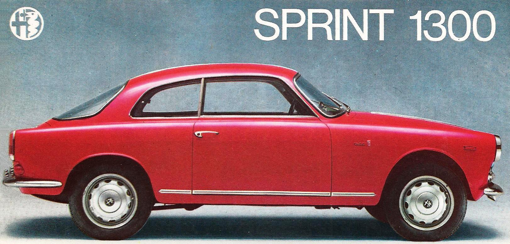 Alfa Romeo Sprint 1300 Brochure