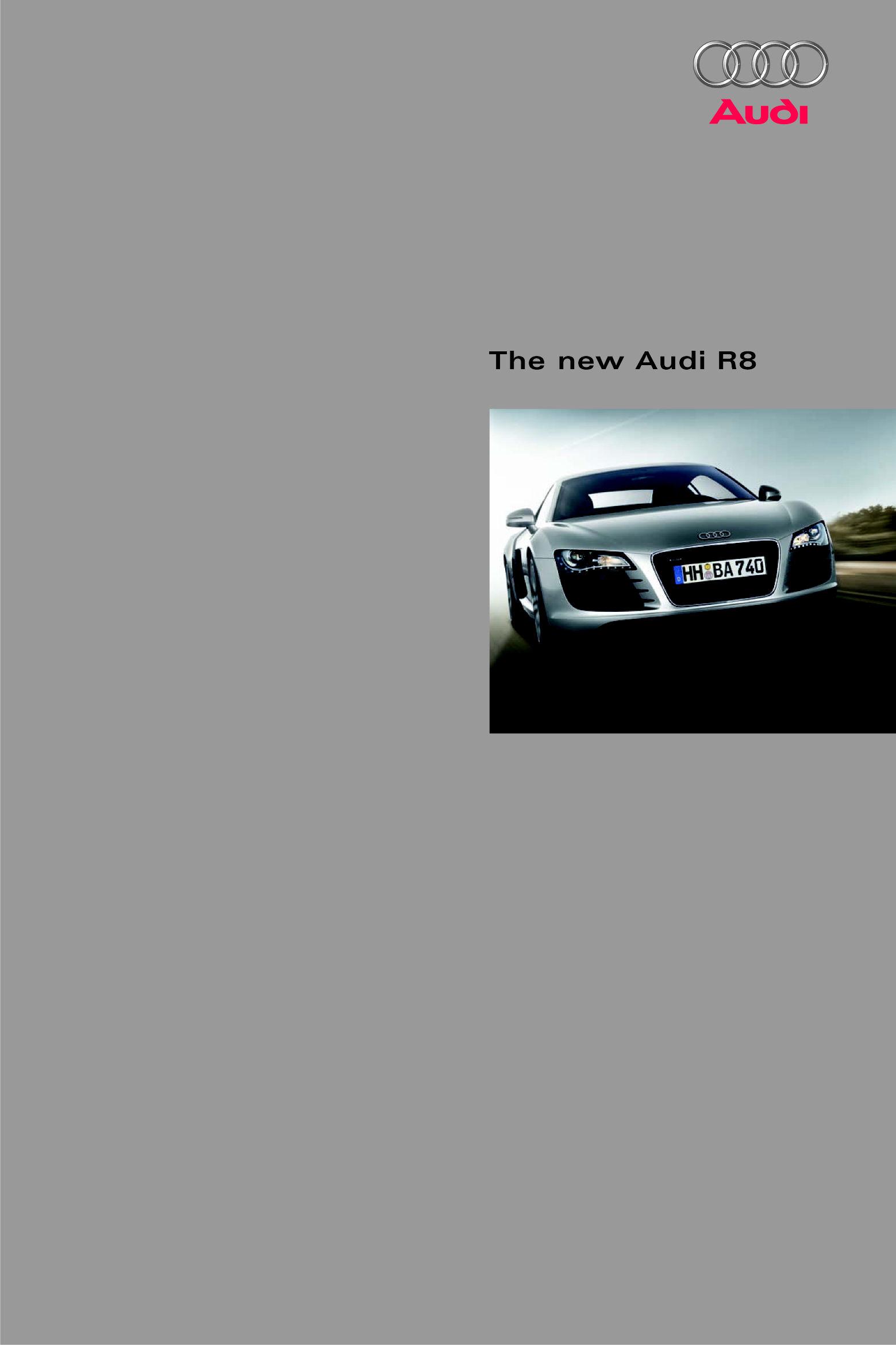 2007 Audi R8 Brochure