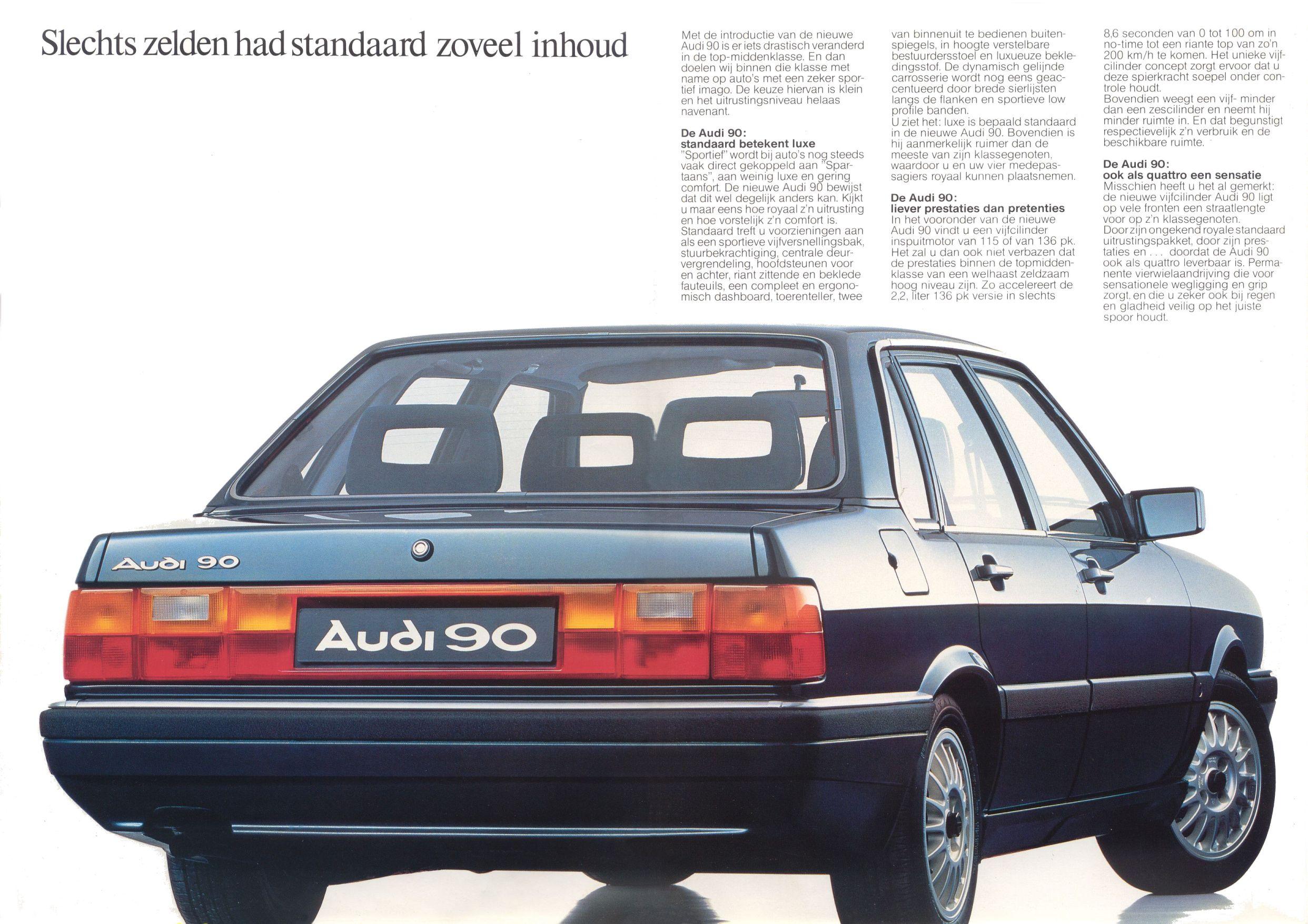 Audi 90 Brochure