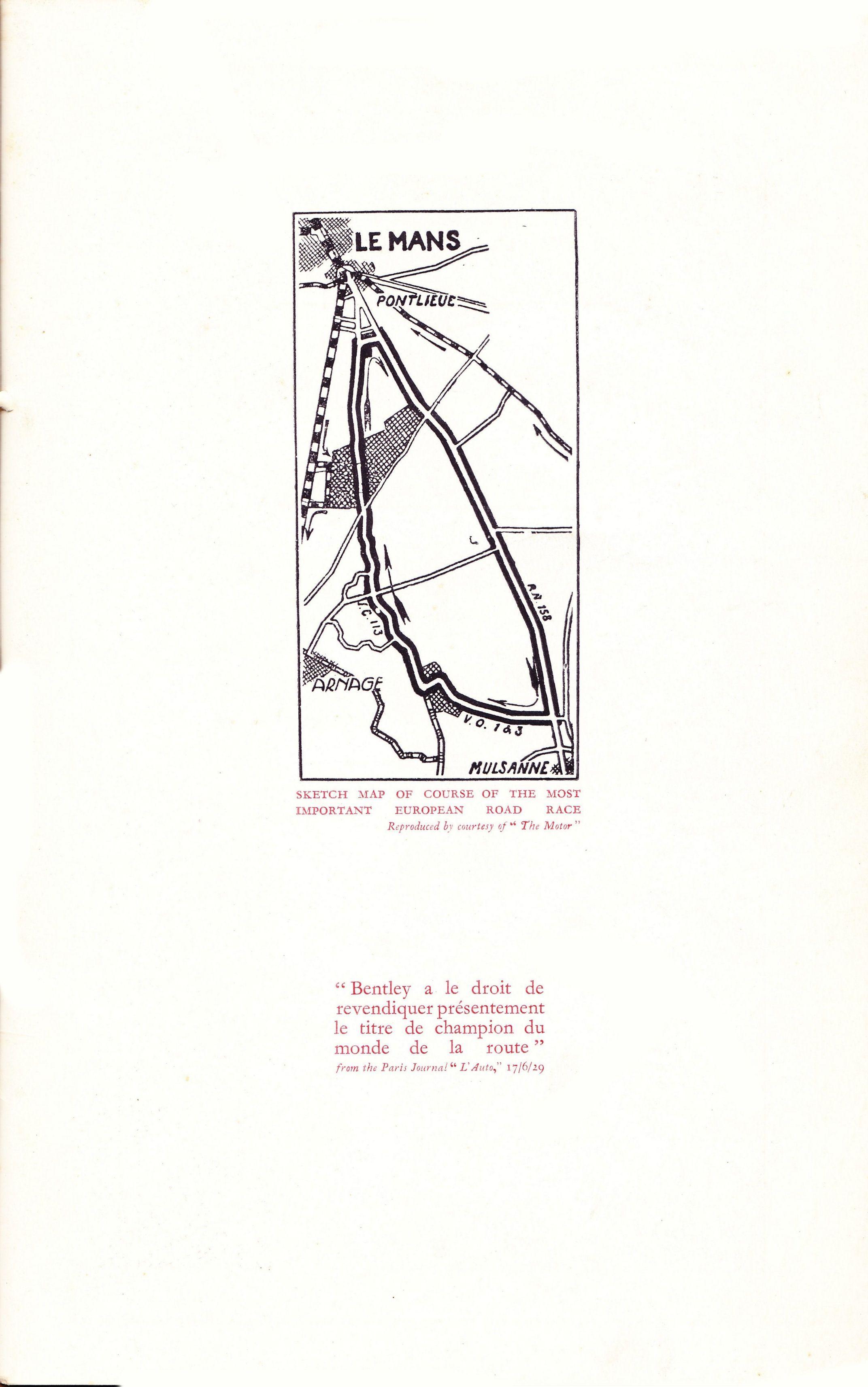 Bentley Quot The Hat Trick Quot Le Mans Booklet