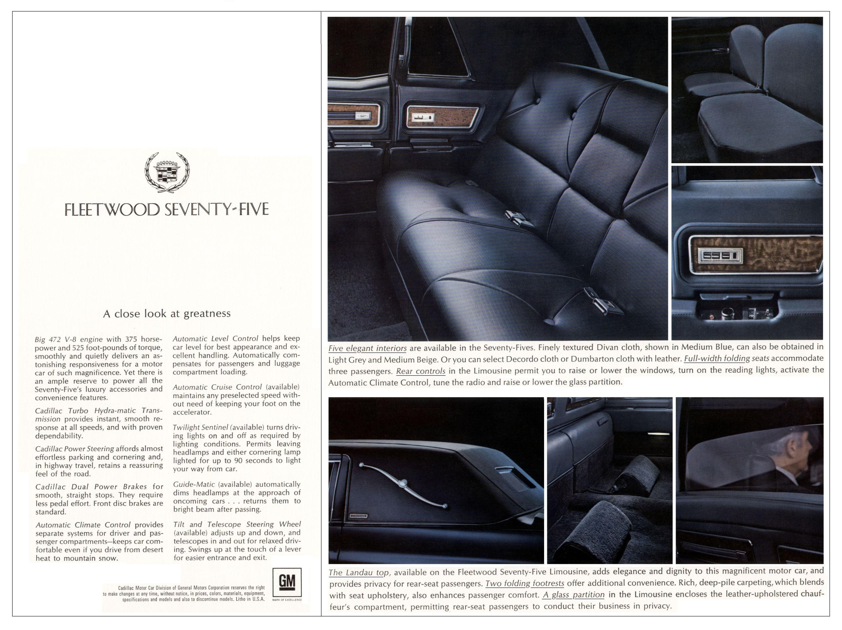 1970 Cadillac Fleetwood 75 Brochure