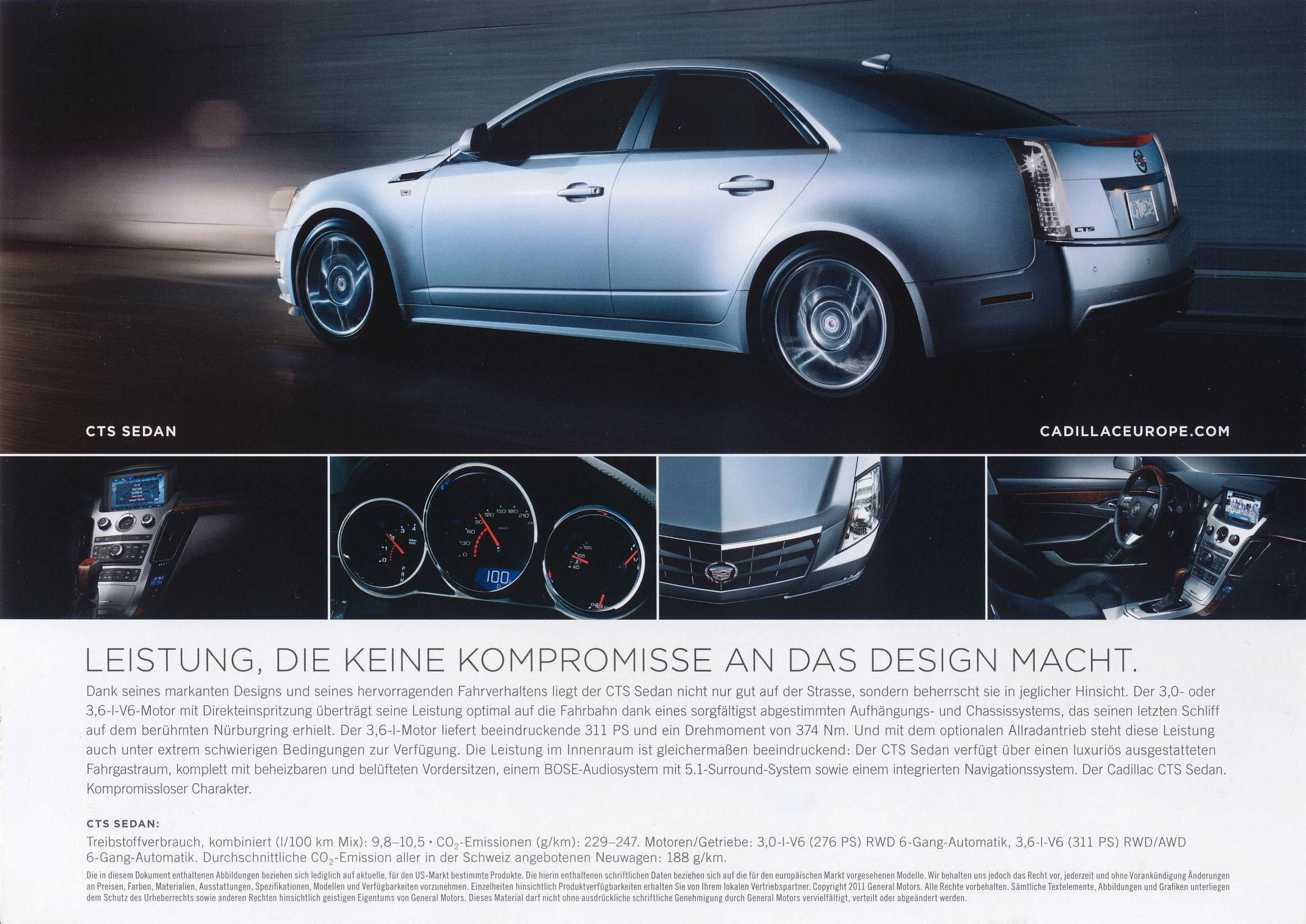 2011 Cadillac Cts Brochure