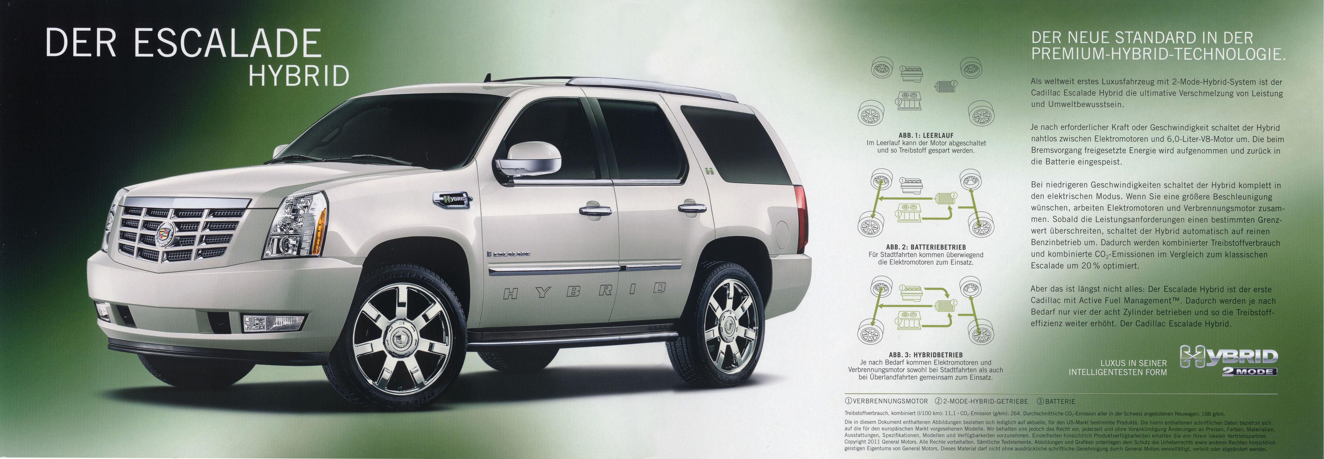 2011 Cadillac Escalade Hybrid brochure