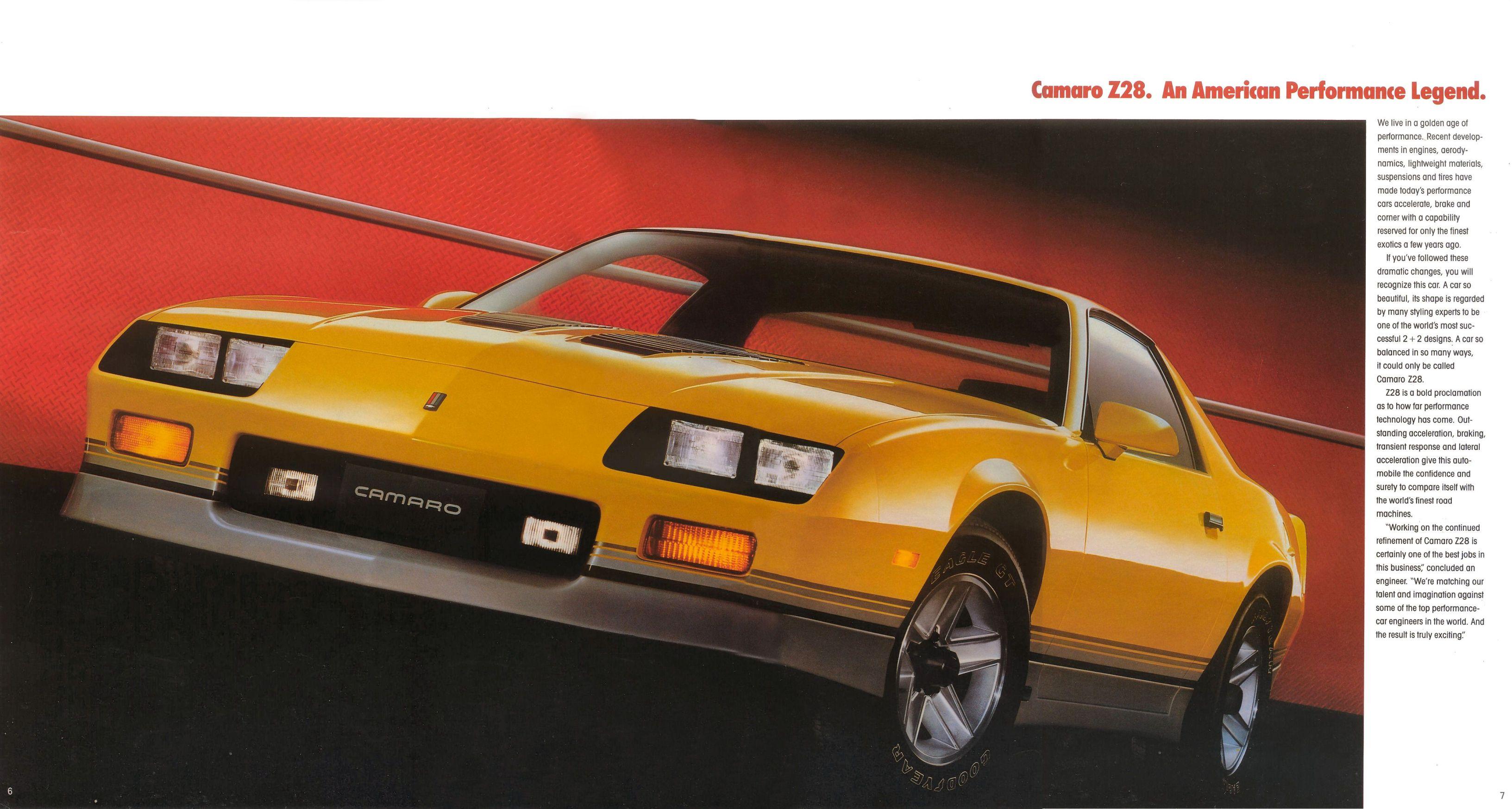 Camaro Ss Old >> 1986 Chevrolet Camaro brochure