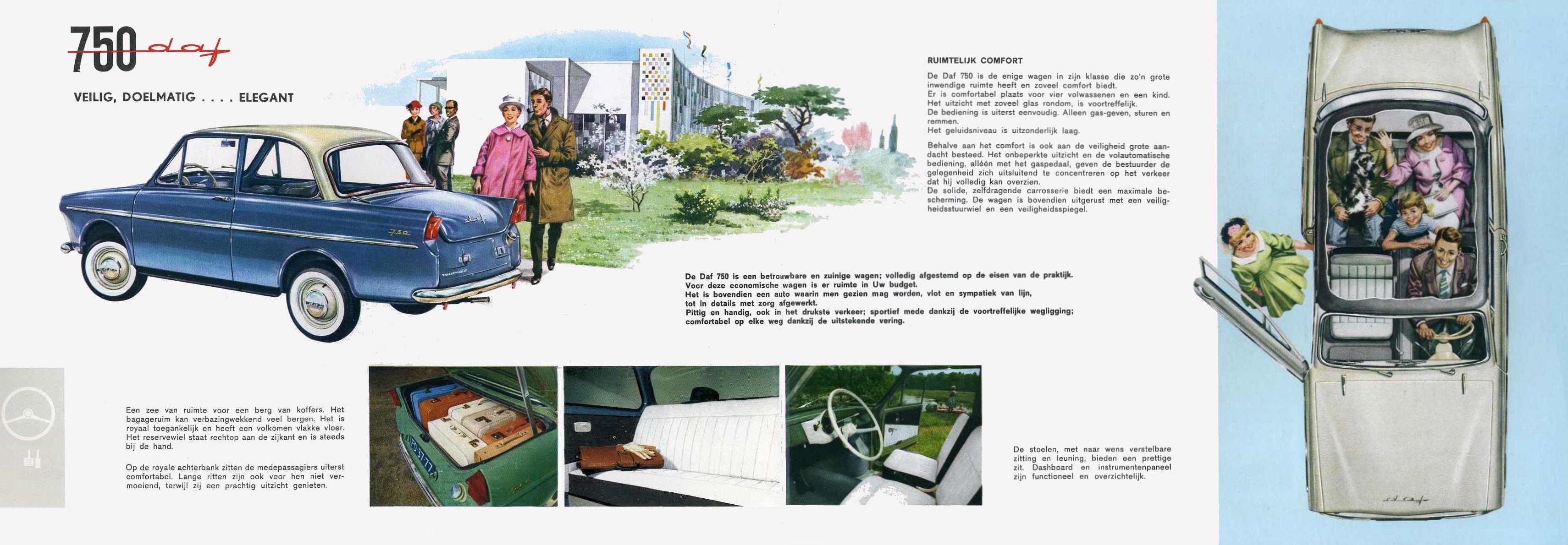 1961 daf 750 brochure