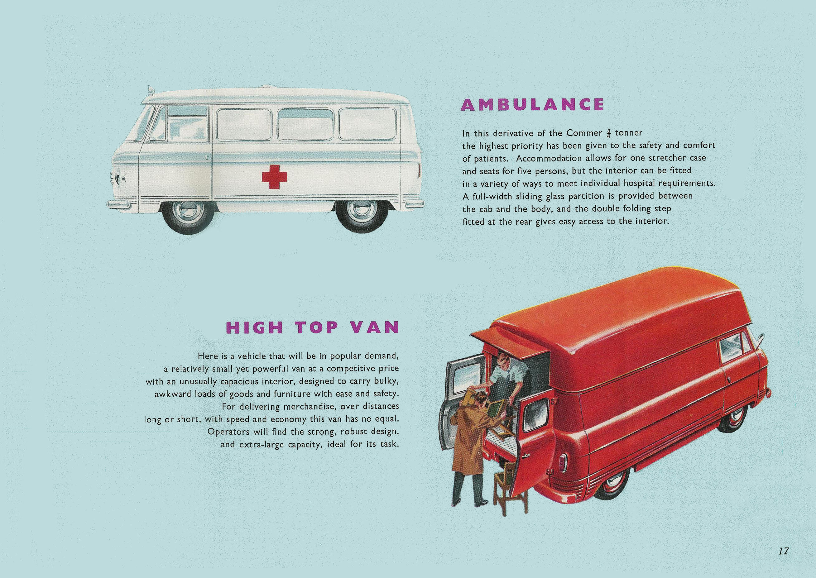 Commer 3/4 ton brochure