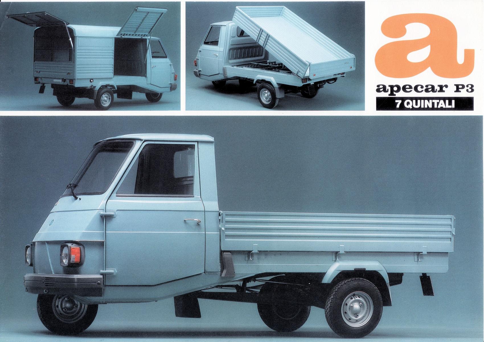 1984 Piaggio Ape Car Brochure