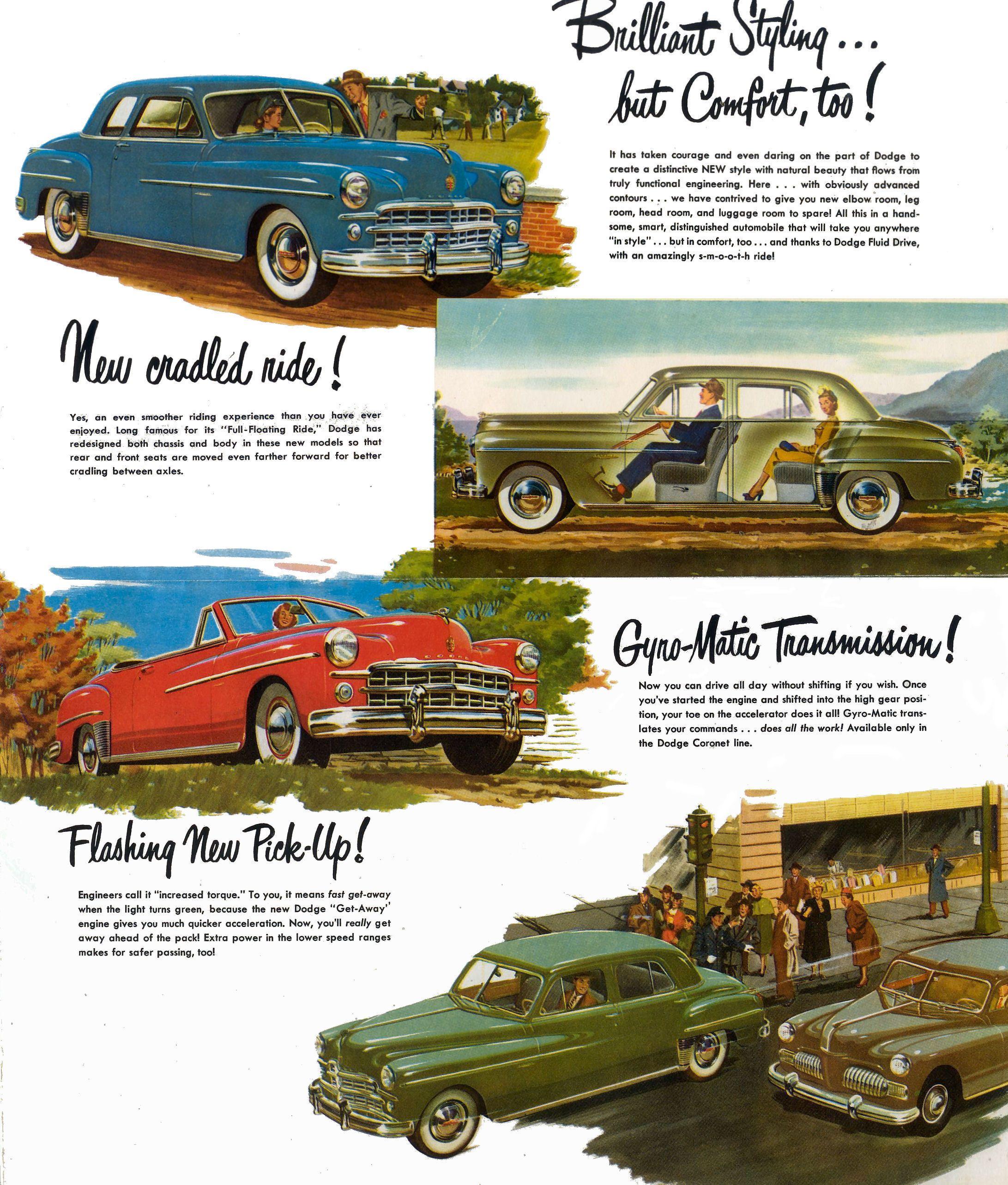 1949 Dodge Brochure Coronet 2 Door