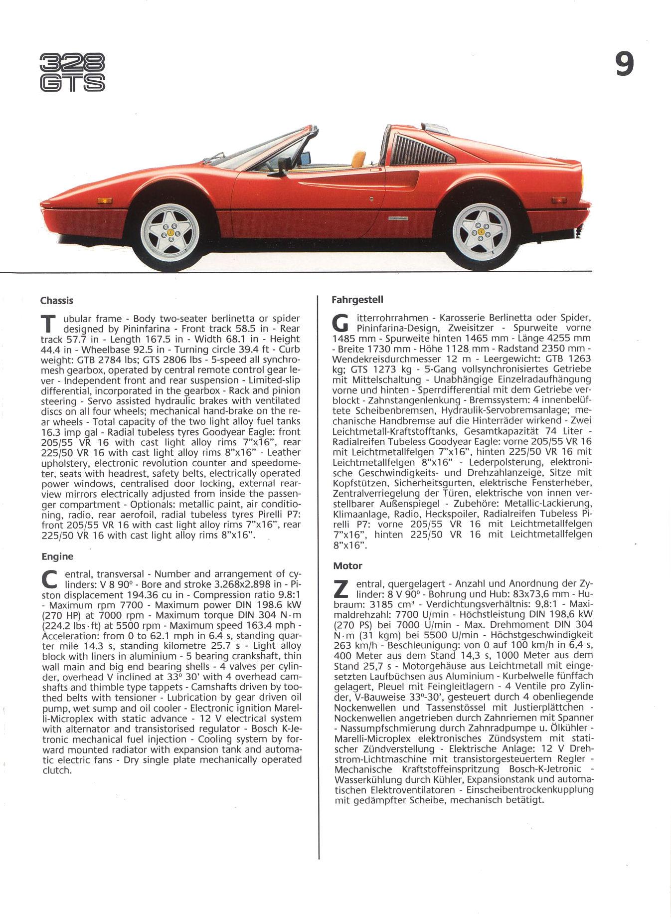 Ferrari 1986 Brochure