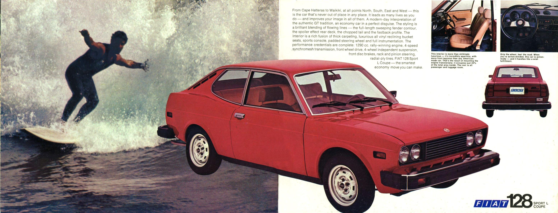 1975 fiat sports cars brochure