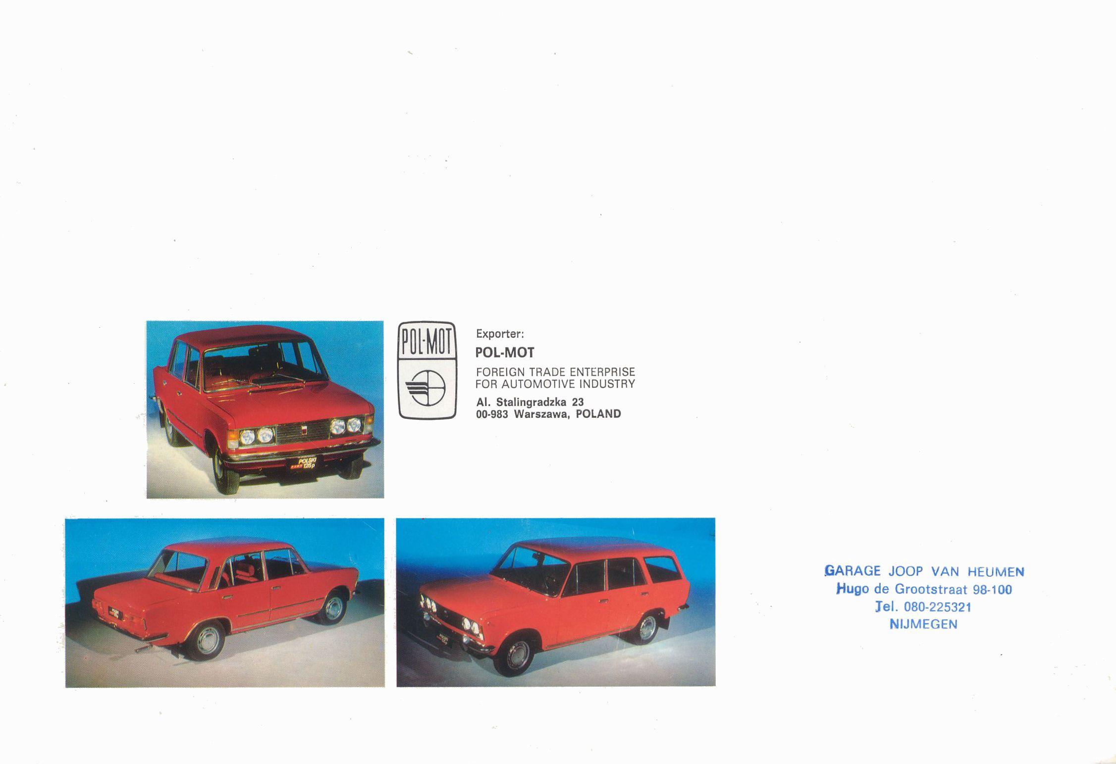Polski Fiat 125p Brochure