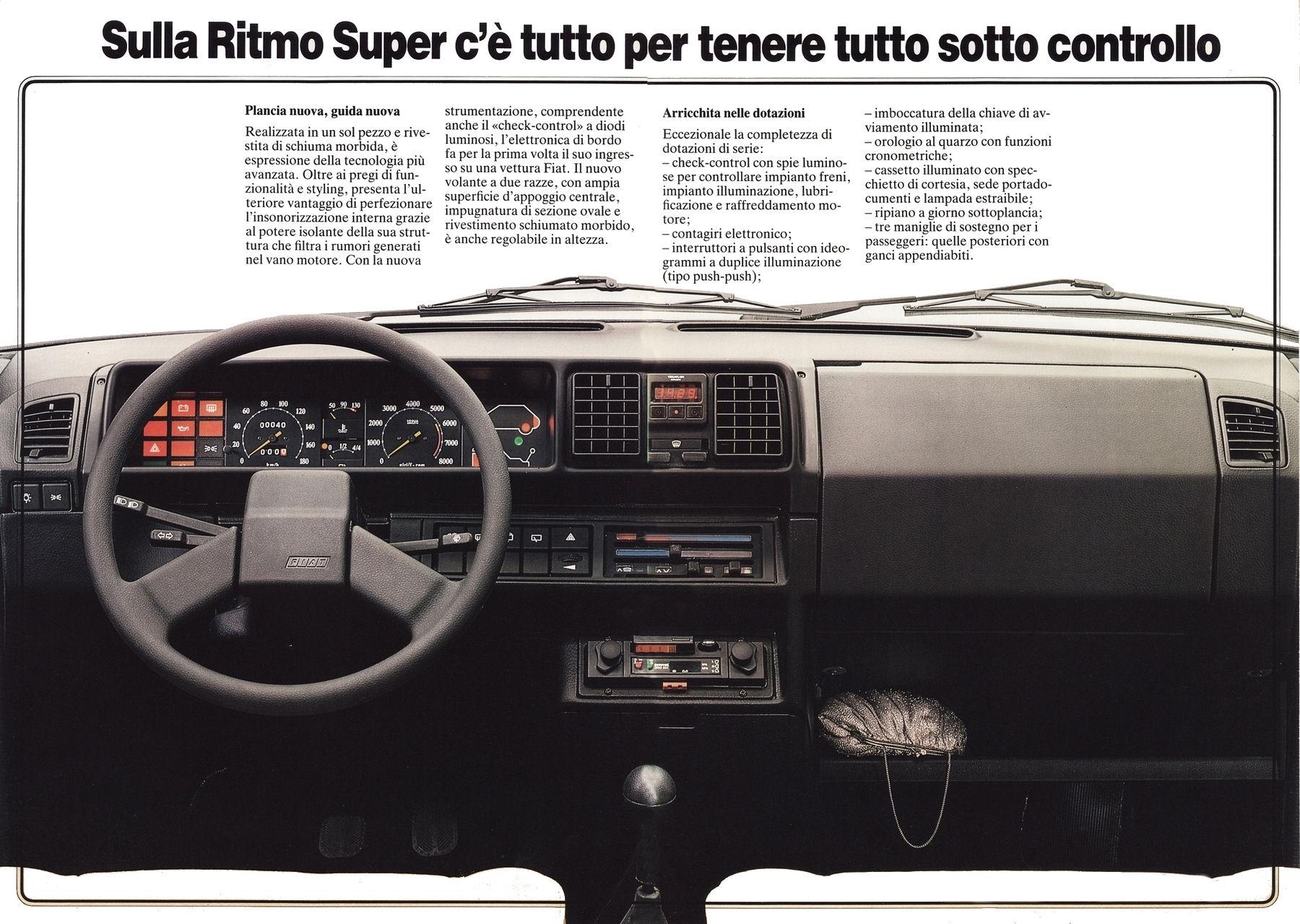 1981 Fiat Ritmo Super brochure Storm