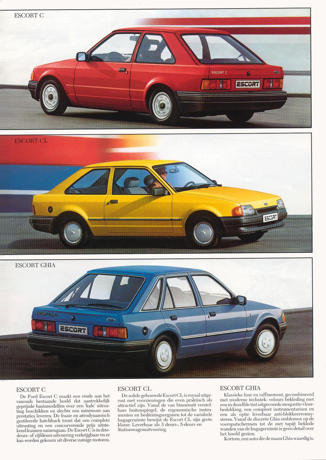 форд эскорт 1987 технические характеристики