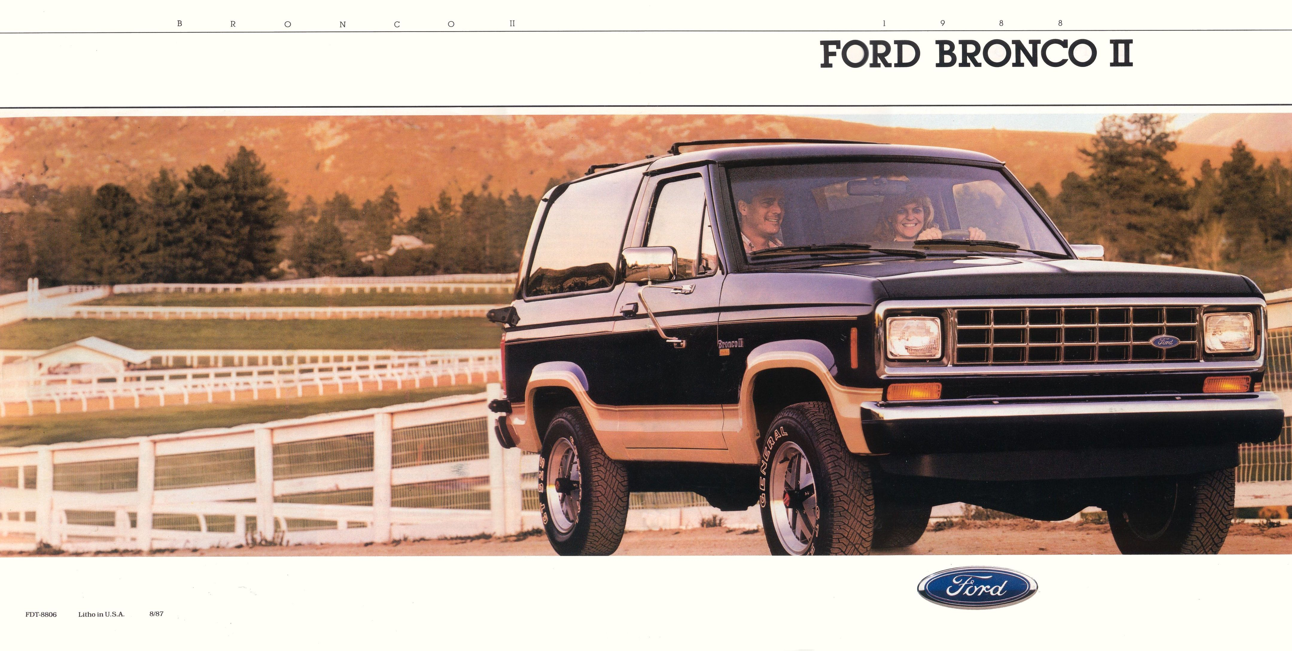 1988 Ford Bronco Ii Brochure