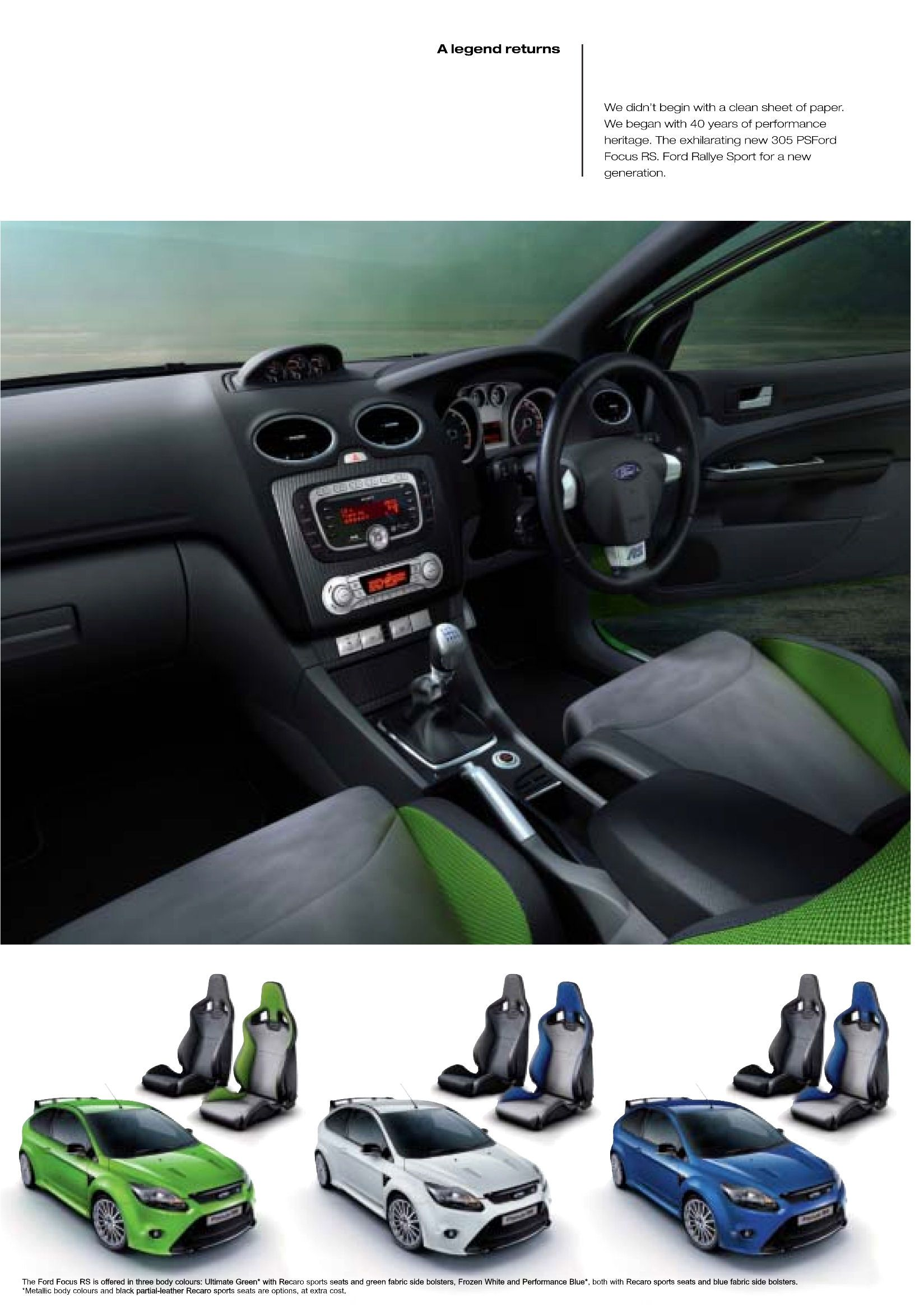 2009 ford focus rs brochure
