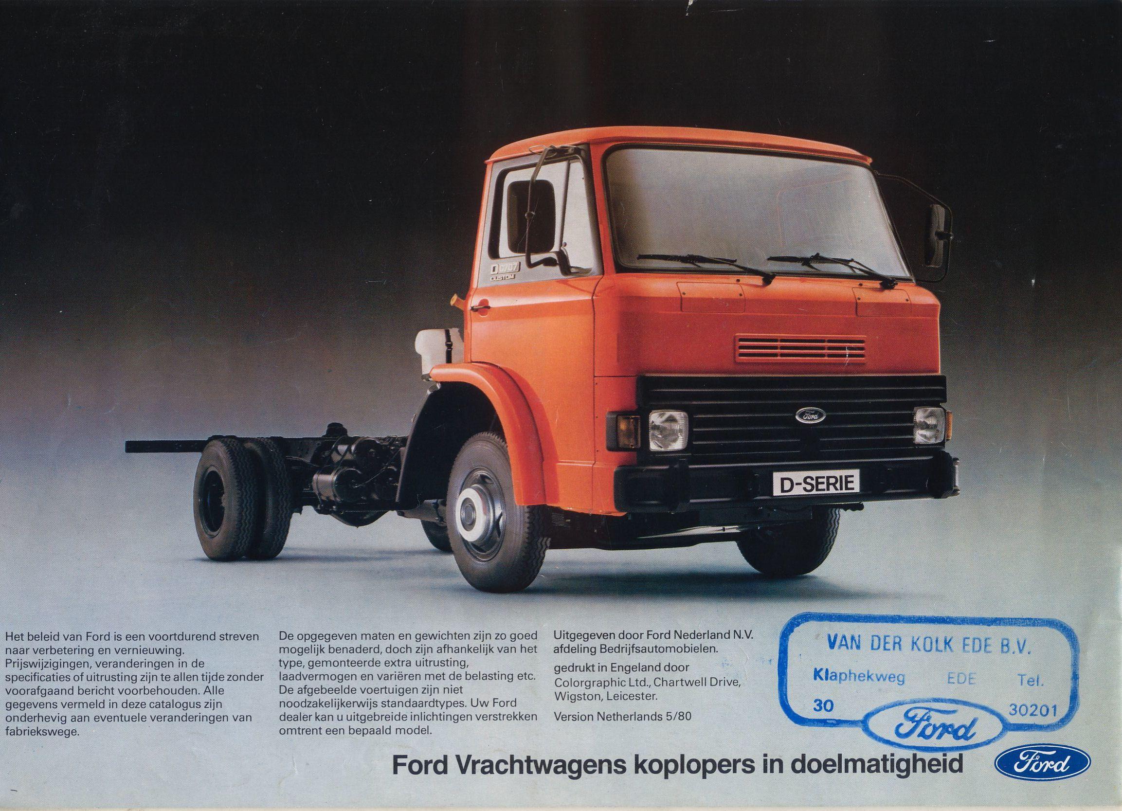 1980 Ford D Series brochure