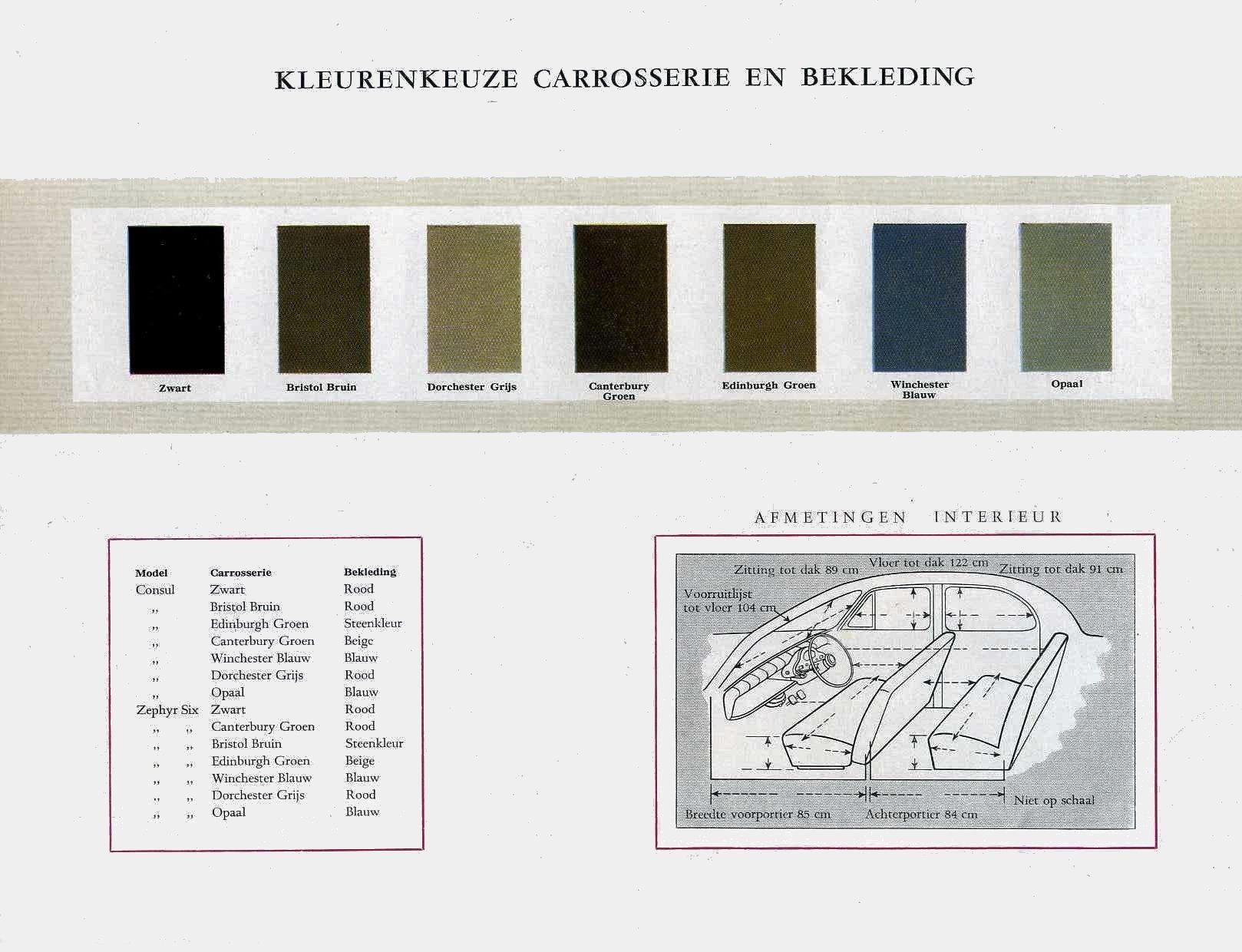 Car Color Chart >> 1954 Ford Zephyr Consul Six brochure