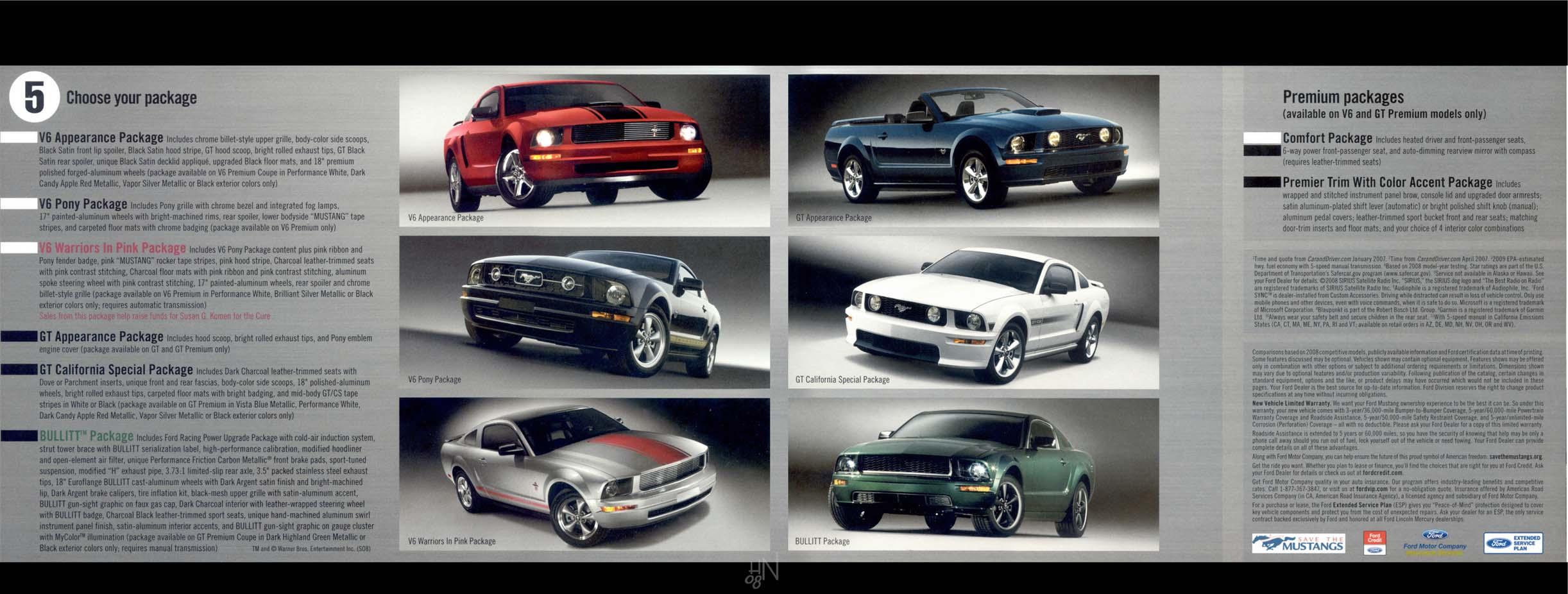 Mustang Ford Carford Matte Black Car Wrap Fort Lauderdale 1964 Brochure 2009