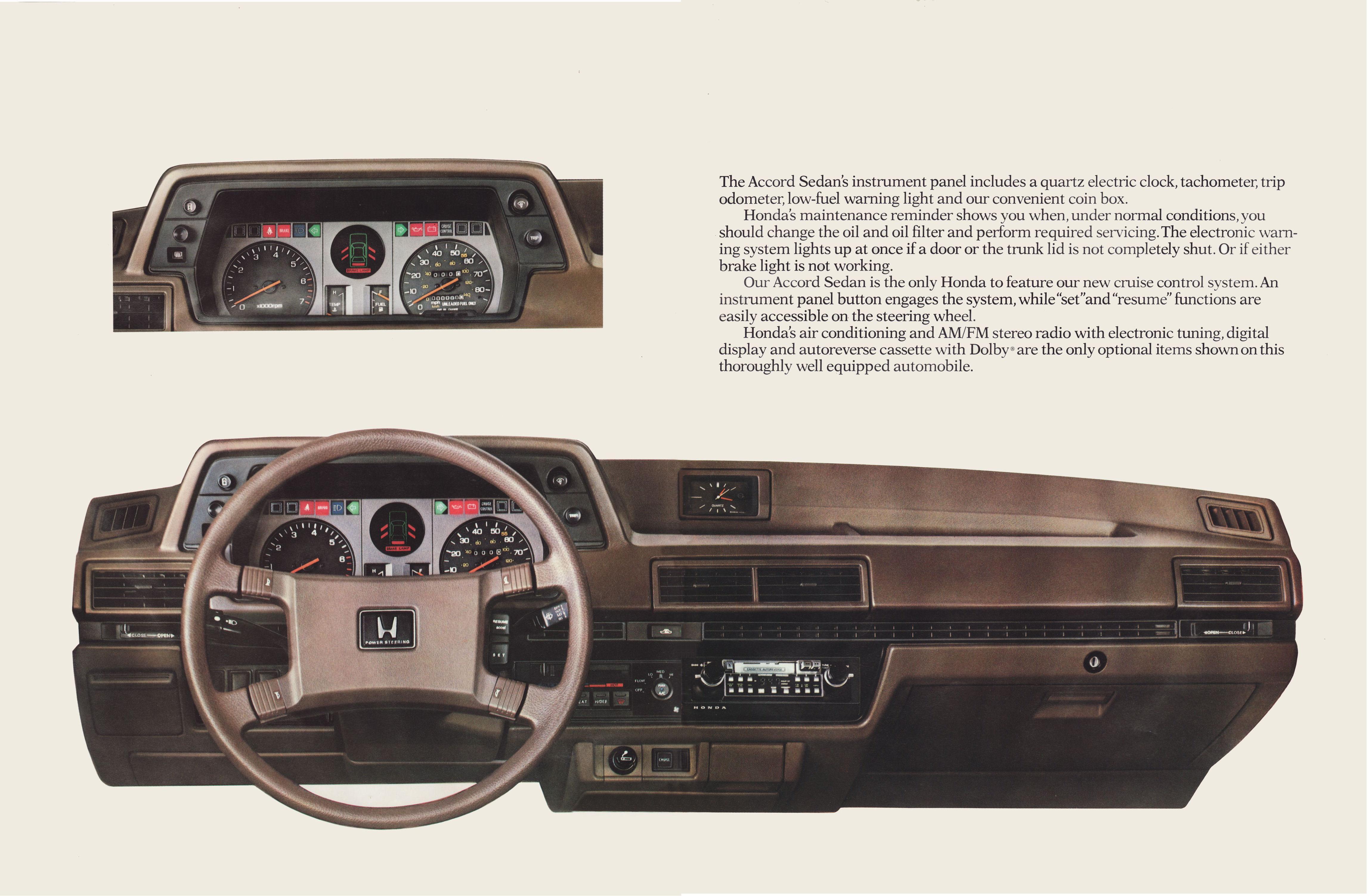 1982 Honda Accord Brochure