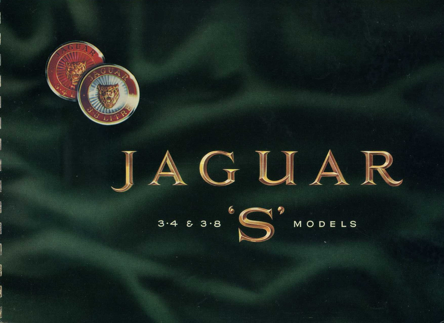 1965 jaguar 3 4 3 8 s models brochure. Black Bedroom Furniture Sets. Home Design Ideas