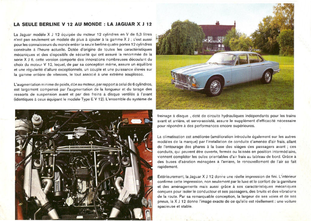 1972 Jaguar Xj-12 S1 Related Infomation Specifications