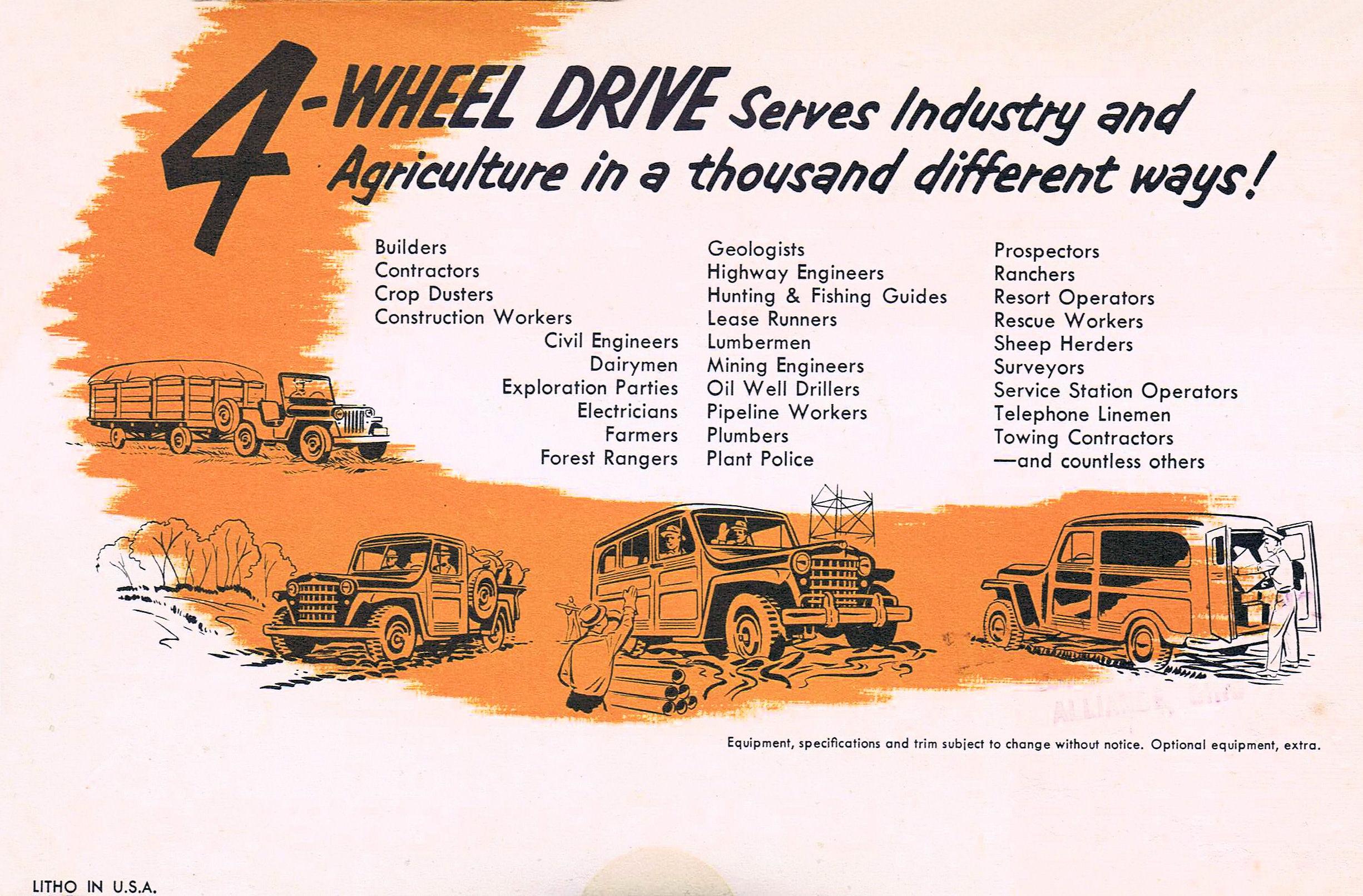1950 Willys Jeep >> Willys Overland Motors 1950 brochure