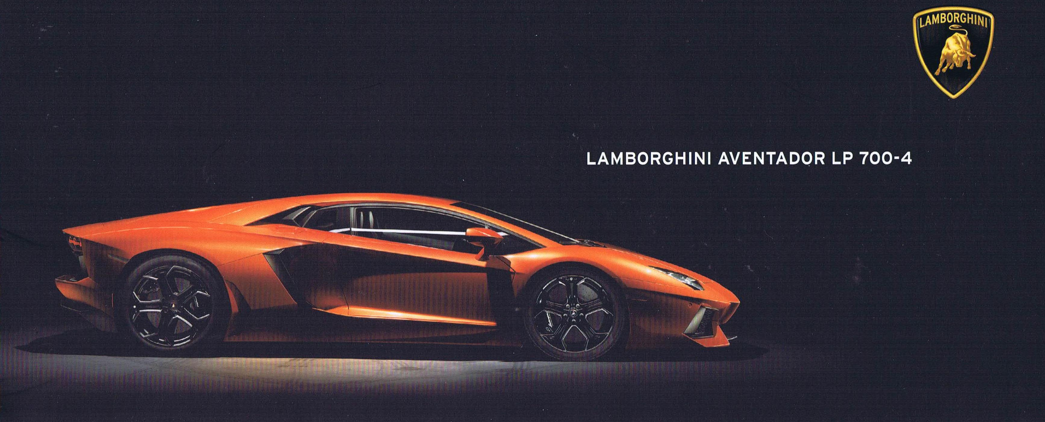 2013 Lamborghini Aventador Brochure