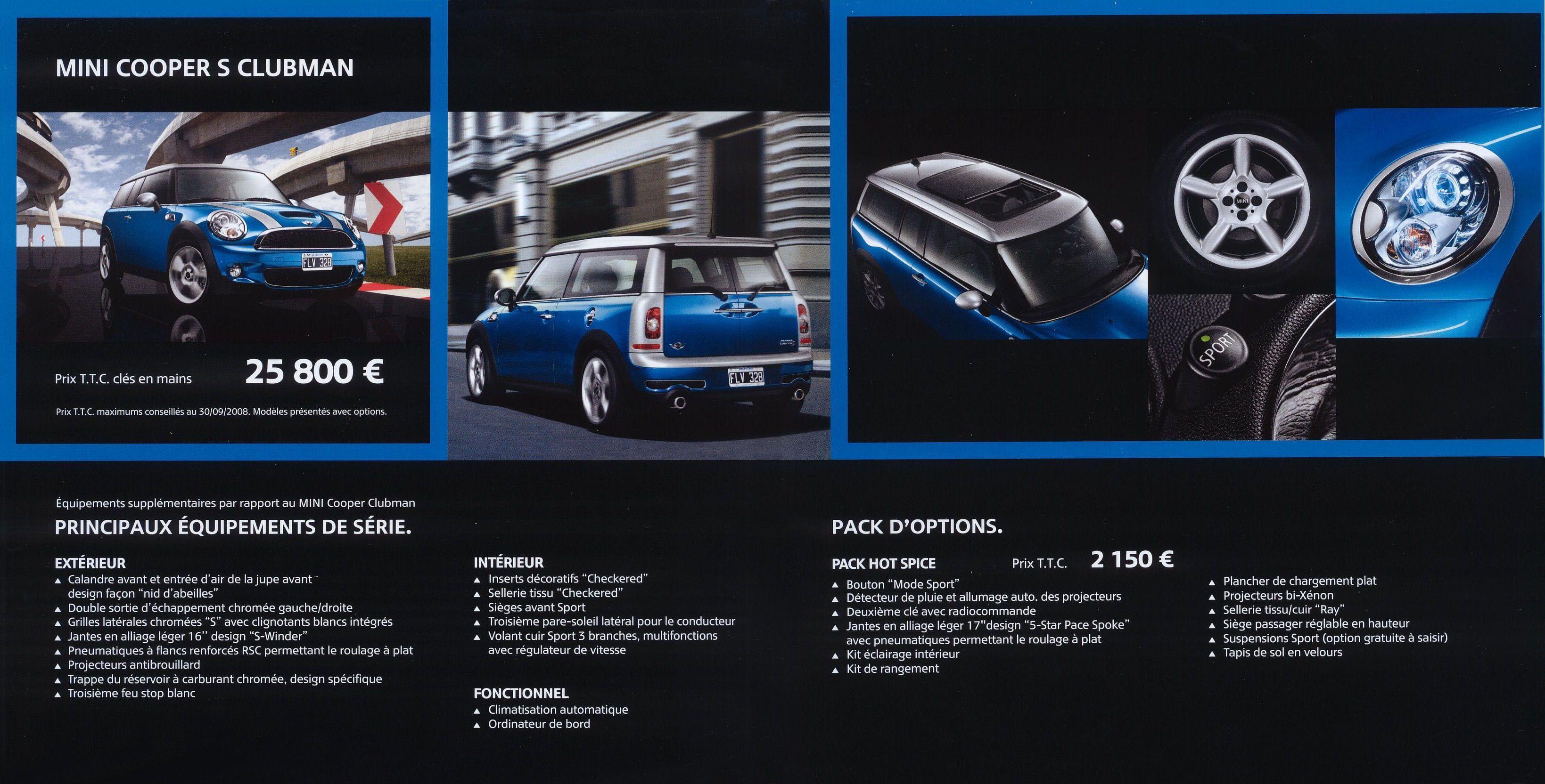 2008 Mini Clubman Brochure