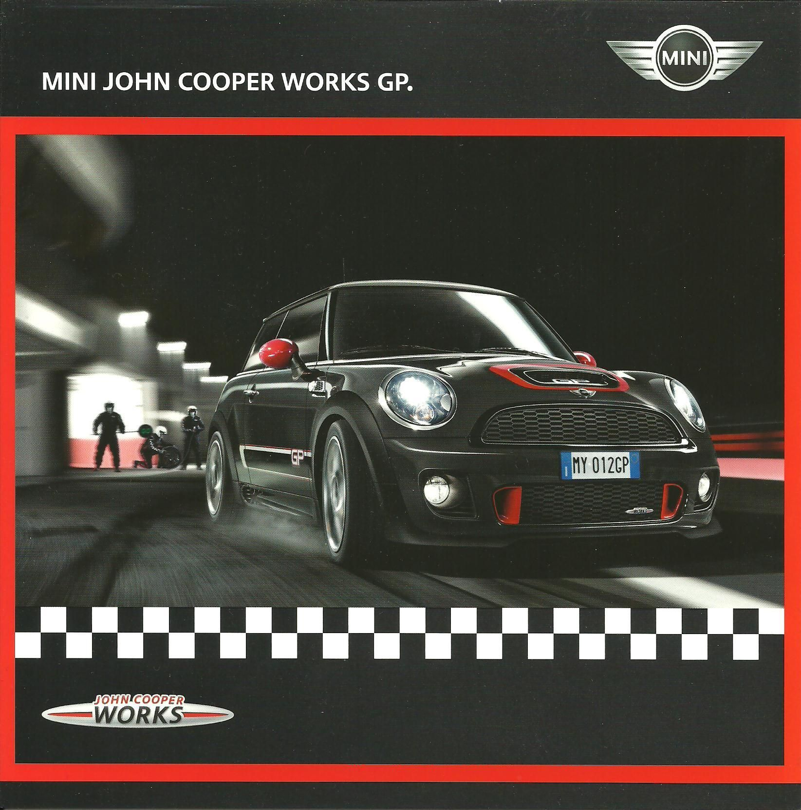 2012 Mini John Cooper Works Gp Brochure