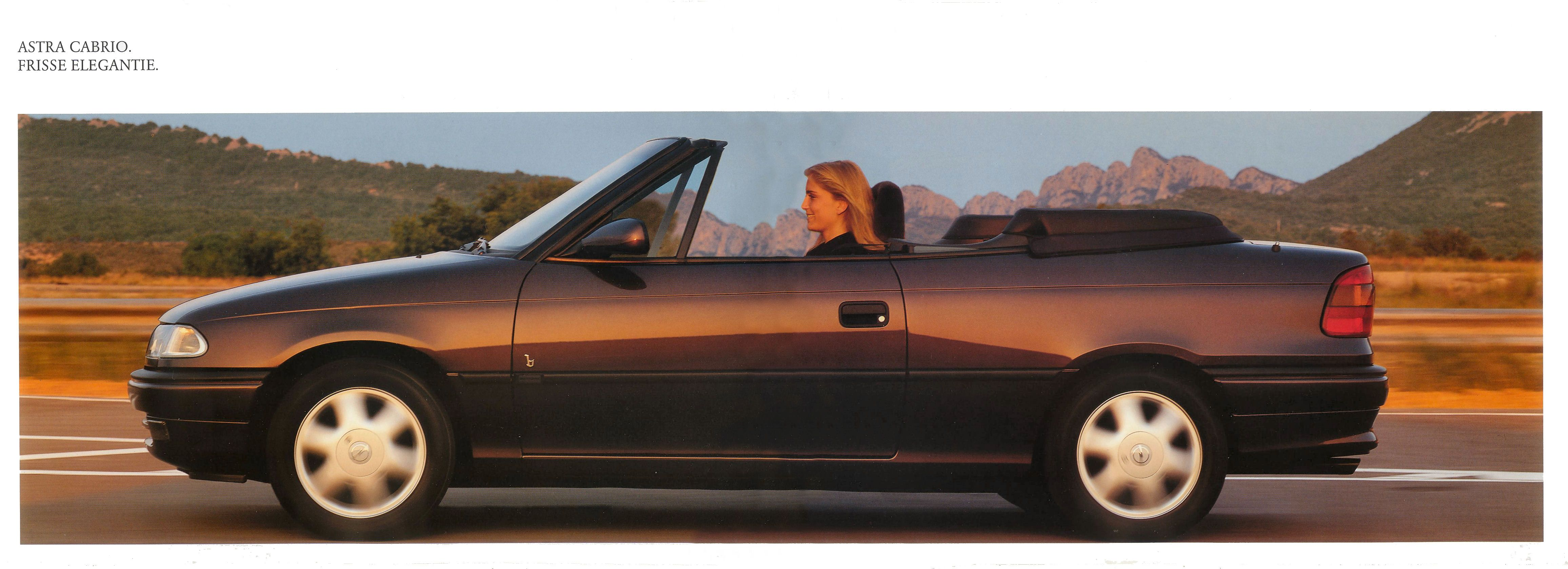 1995 opel astra cabrio brochure. Black Bedroom Furniture Sets. Home Design Ideas