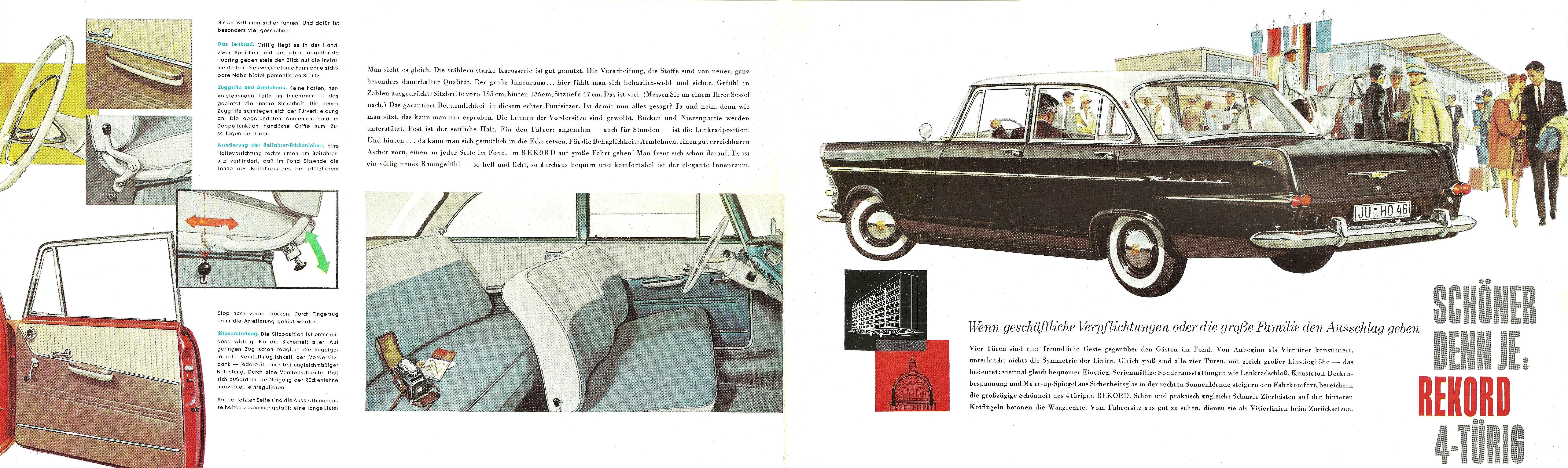 1961 Opel Rekord P2 Brochure