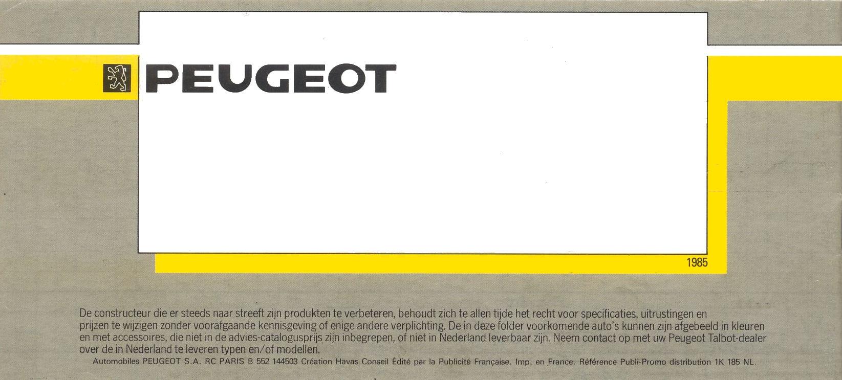 1985 peugeot range brochure