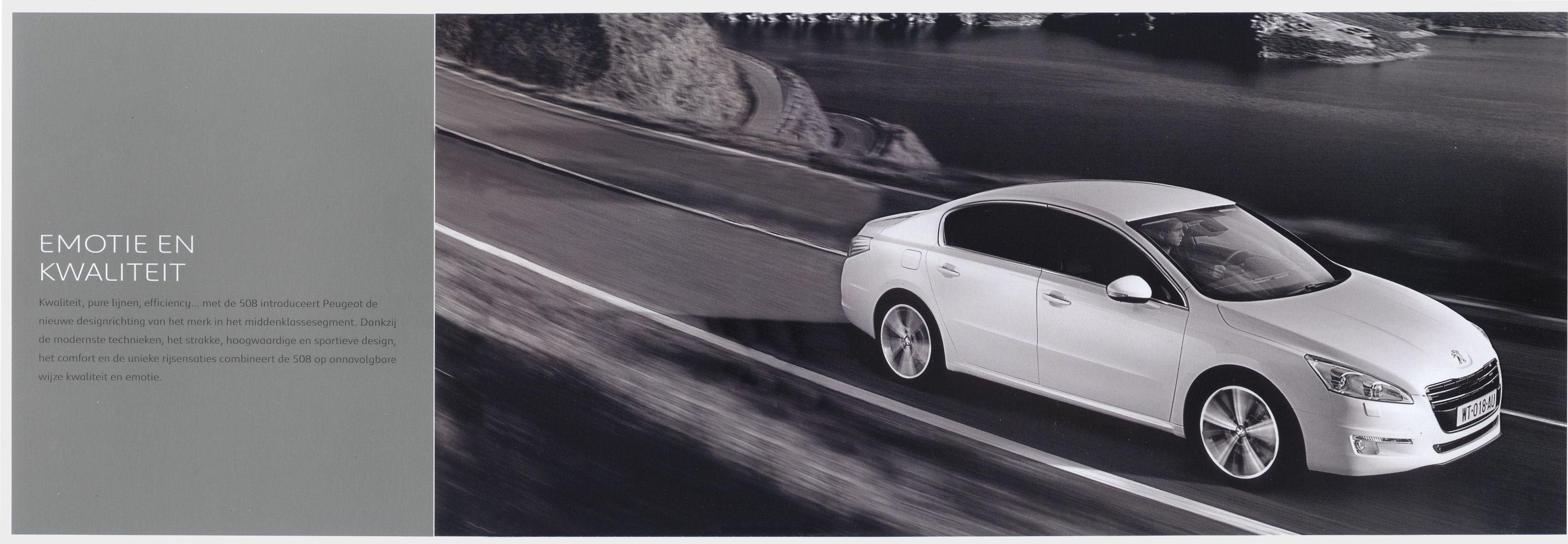 2010 Peugeot 508 brochure Car
