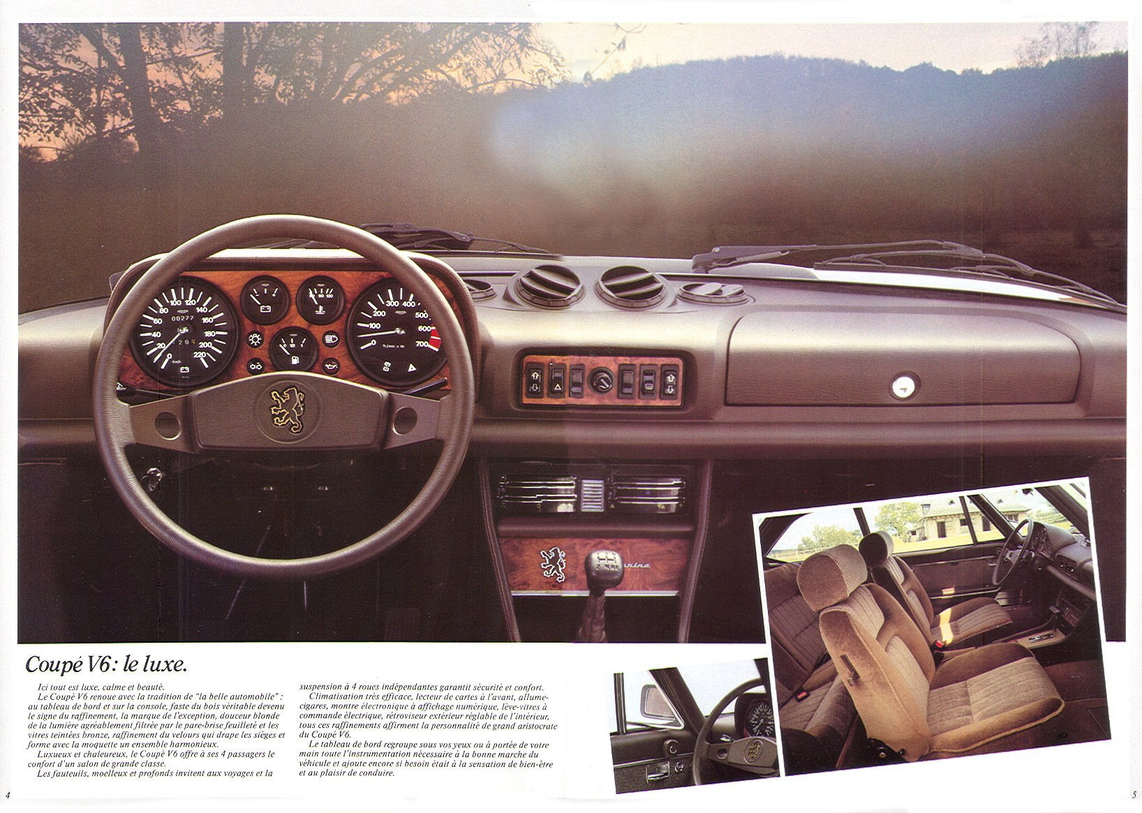 1983 peugeot 504 coupe cabriolet brochure for Interieur 504 coupe