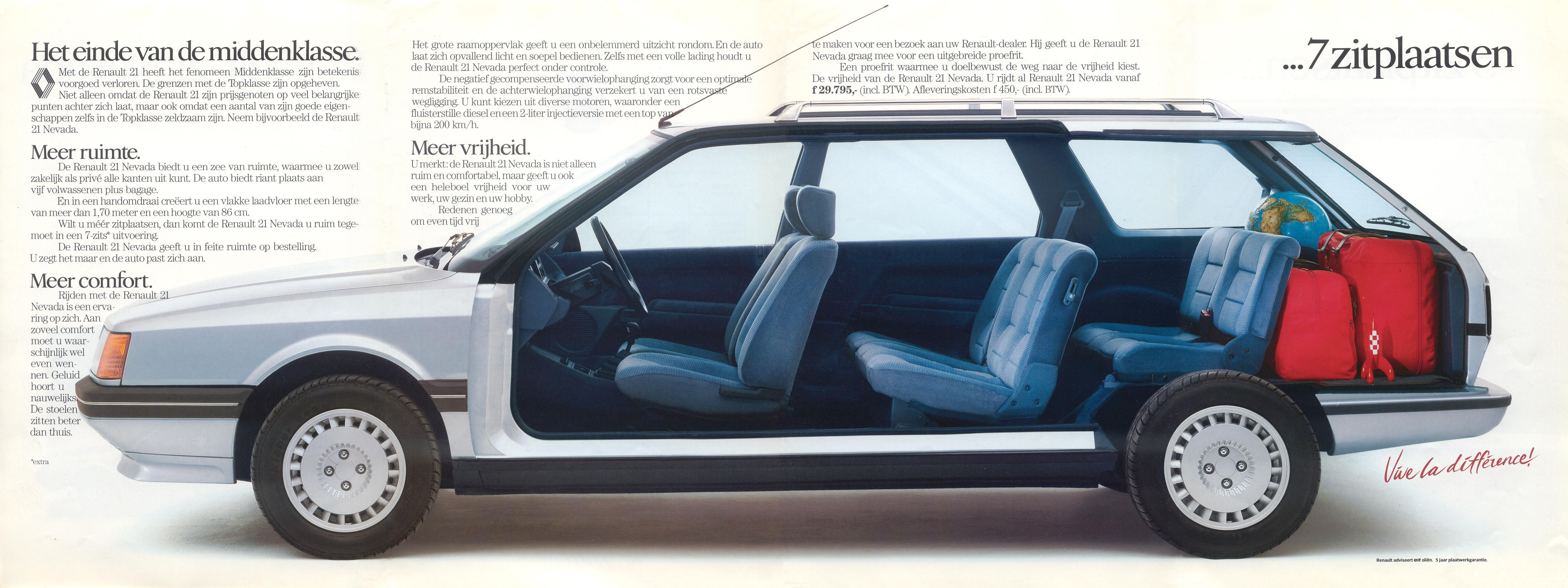 Renault 21 Nevada Brochure