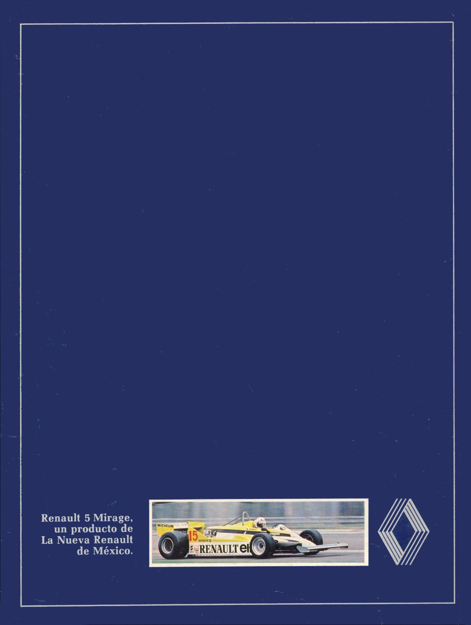 1982 Renault 5 Mirage Brochure
