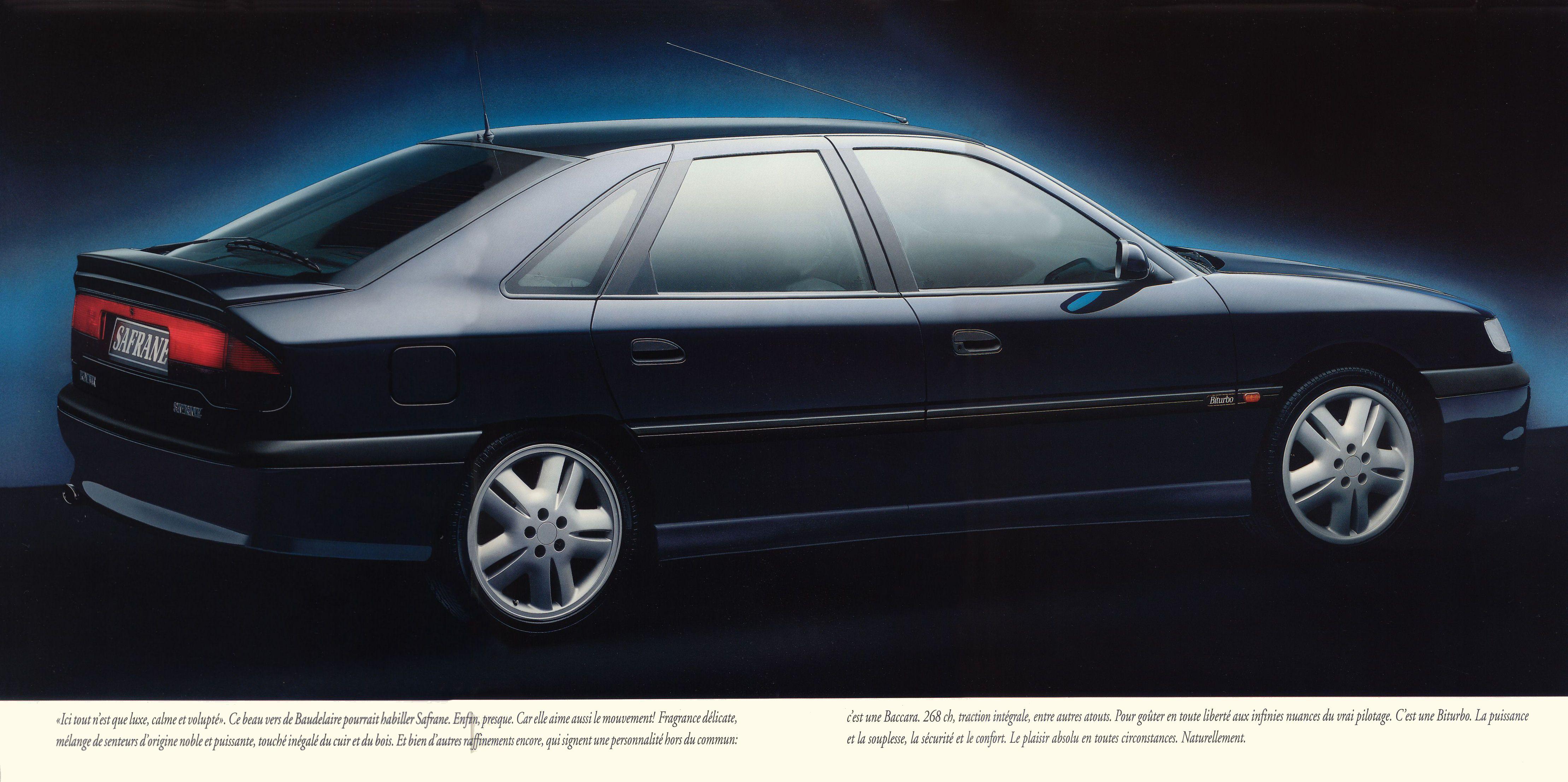 1993 Renault Safrane Bi Turbo Brochure