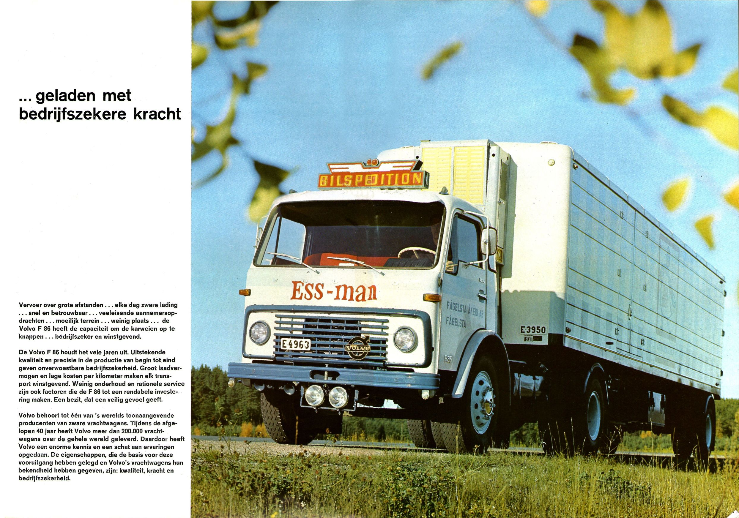 Car And Truck >> 1968 Volvo F86 brochure