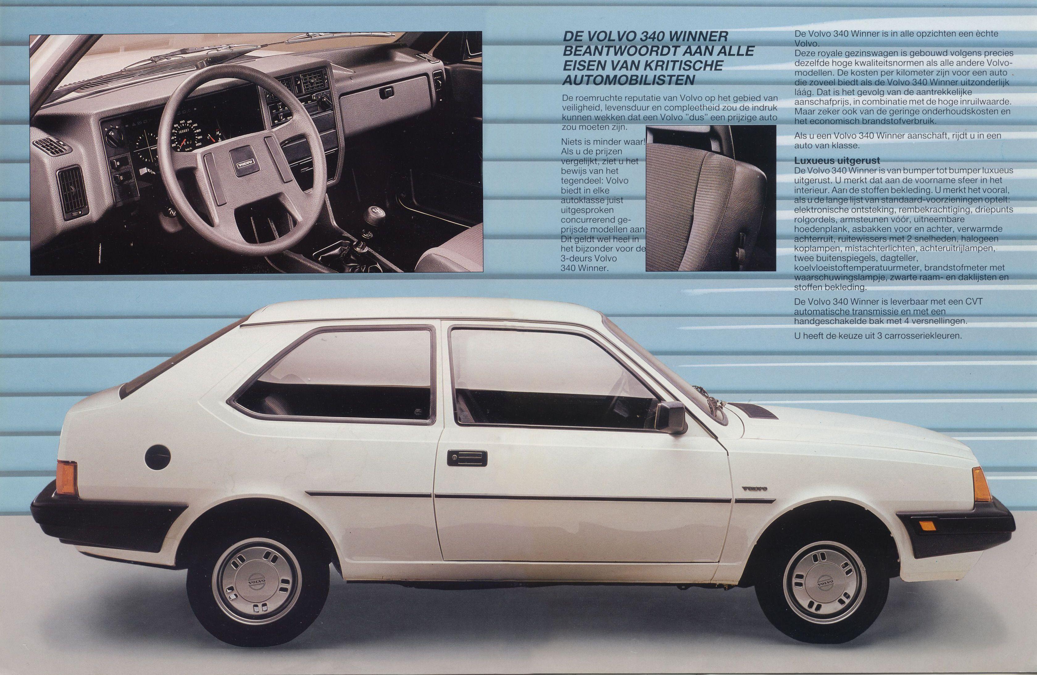 1986 Volvo 340 brochure