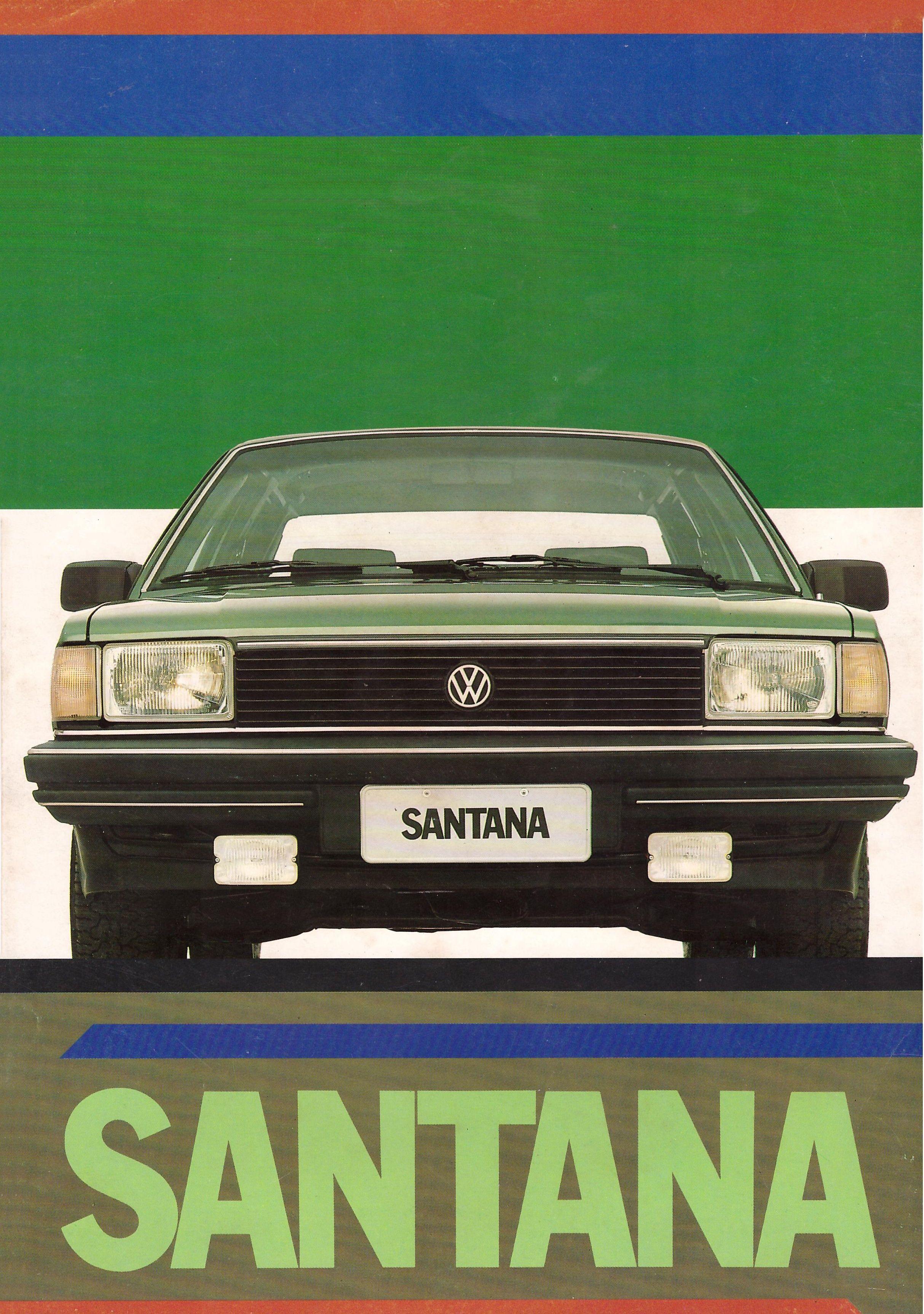 vw santana brochure