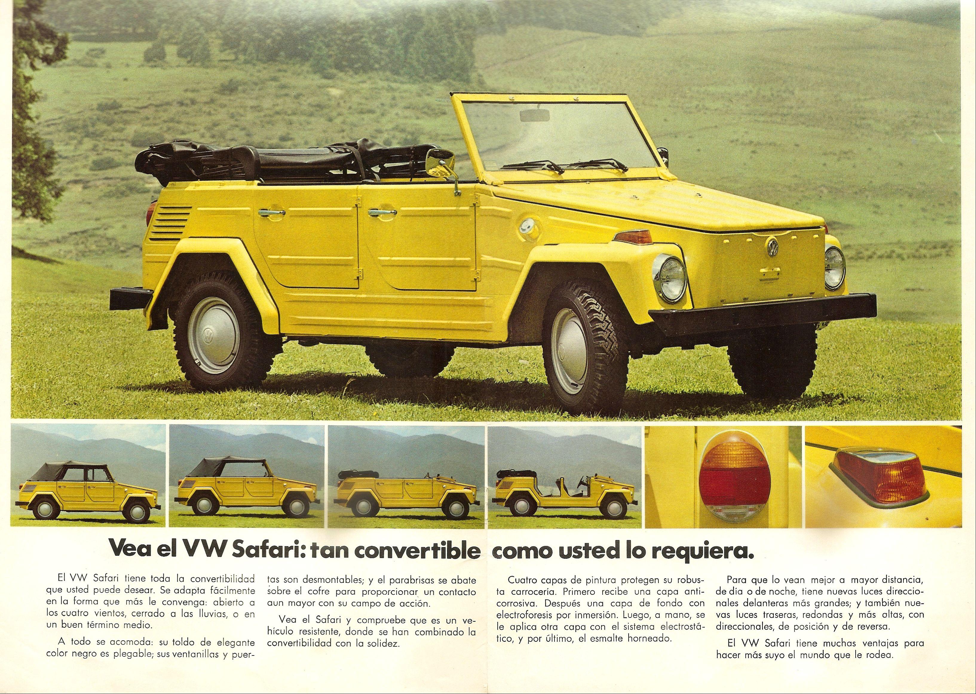 1974 Volkswagen Safari brochure