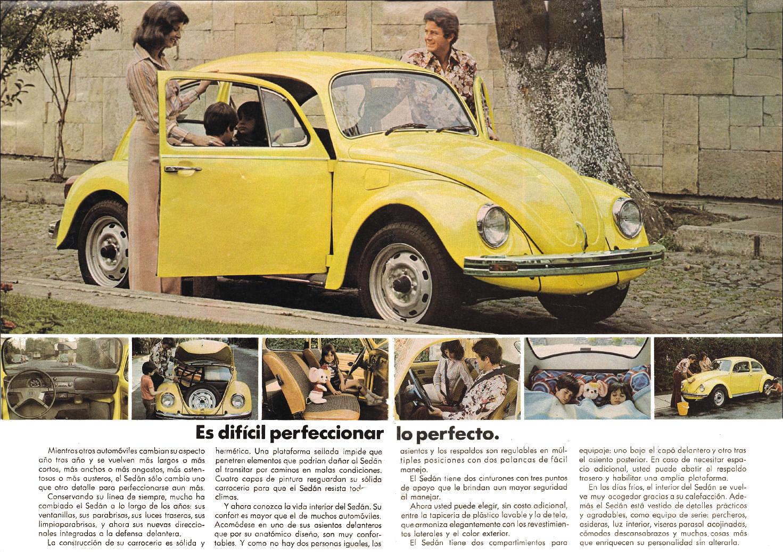 1976 volkswagen beetle brochure