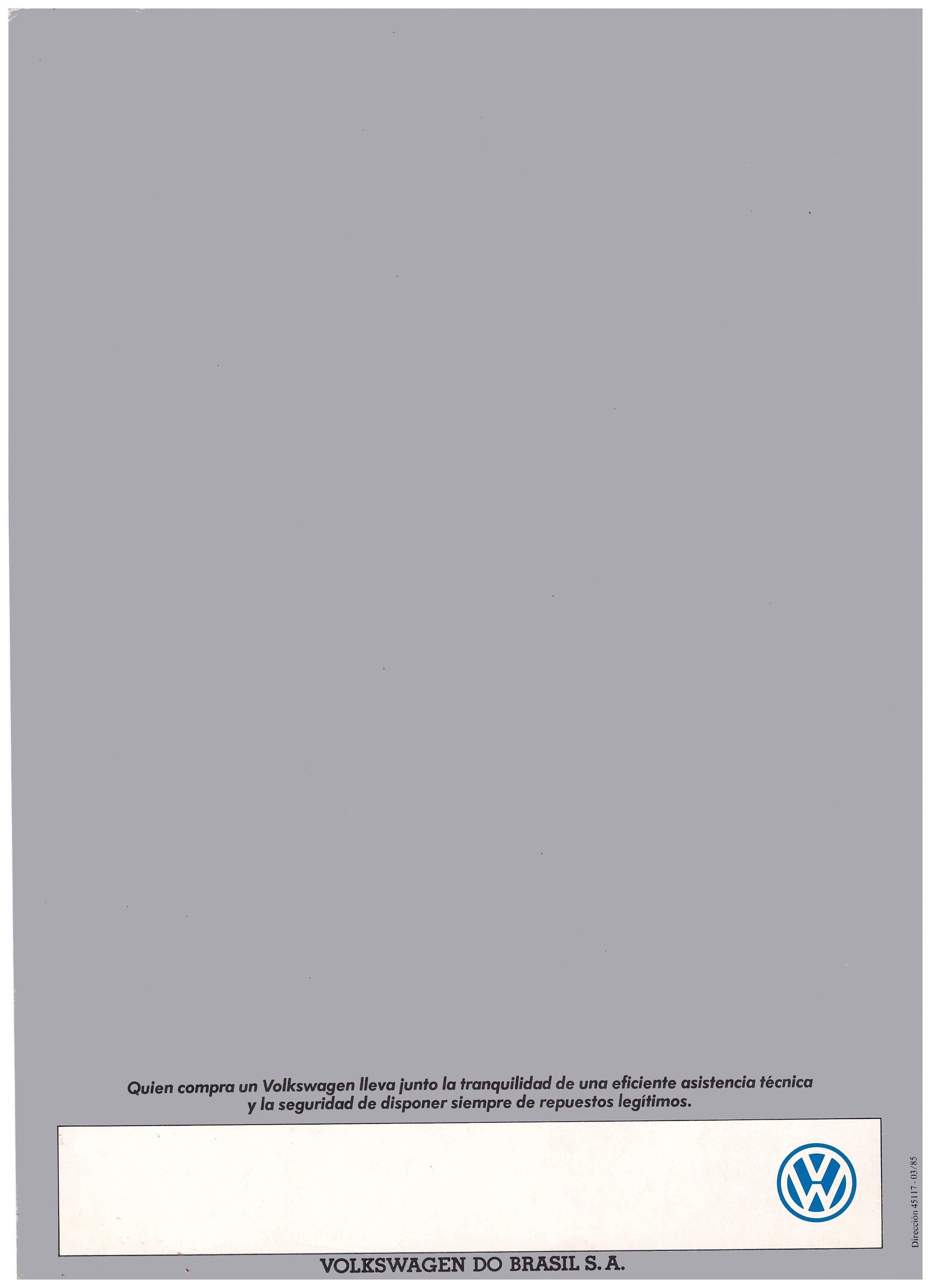 1986 Volkswagen Amazon brochure Volkswagen