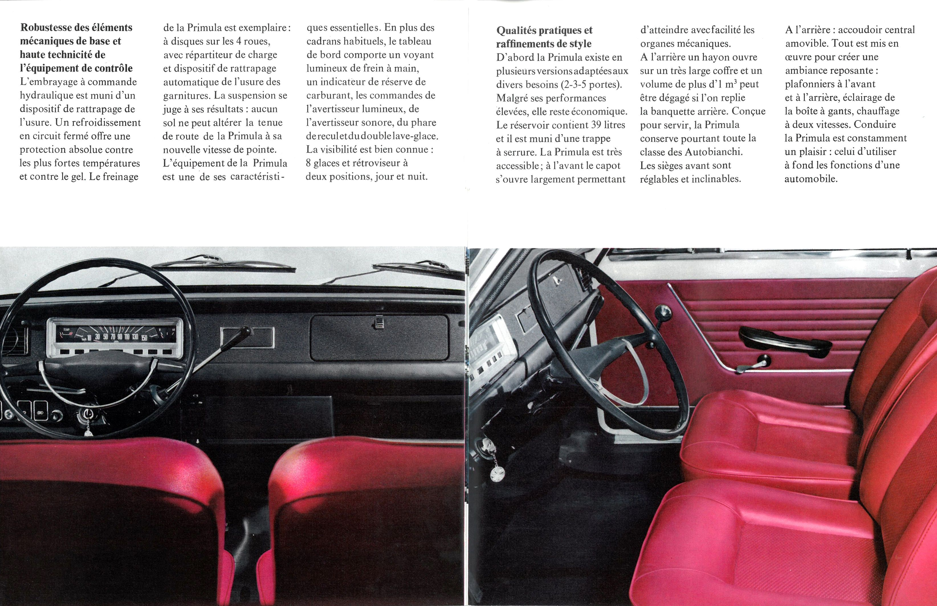 Ambiance Et Style Tableau 1969 autobianchi brochure