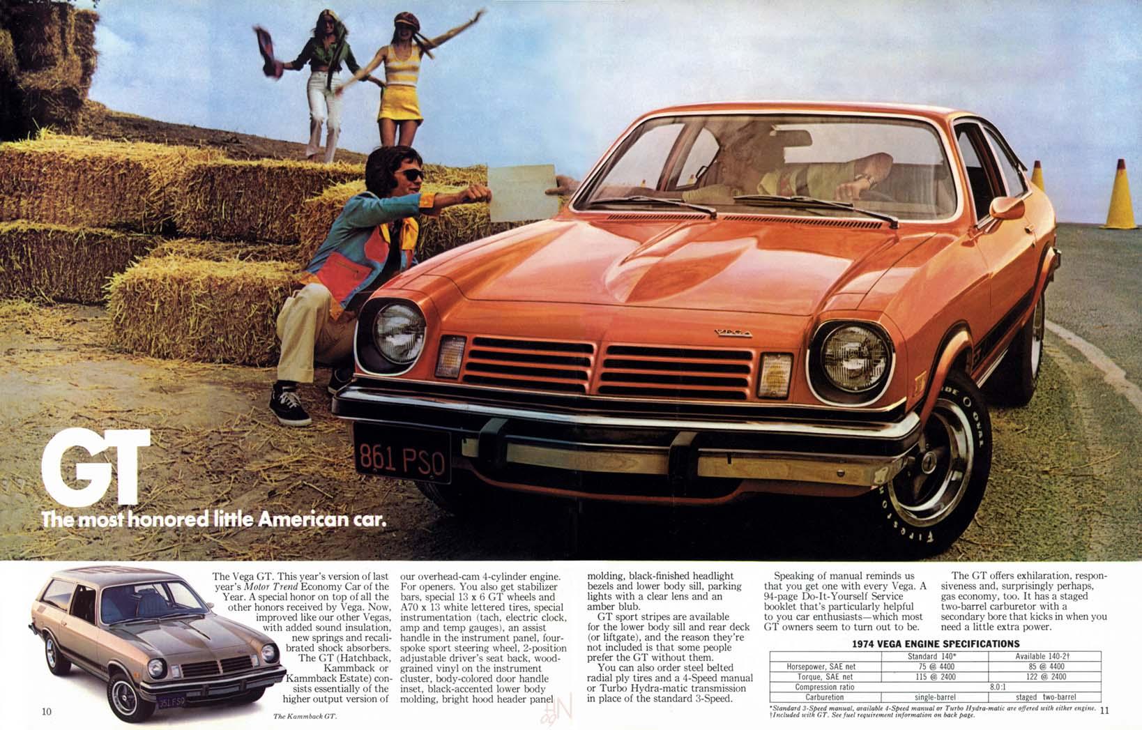 All Chevy 74 chevy vega gt : 1974 Chevrolet VEga brochure