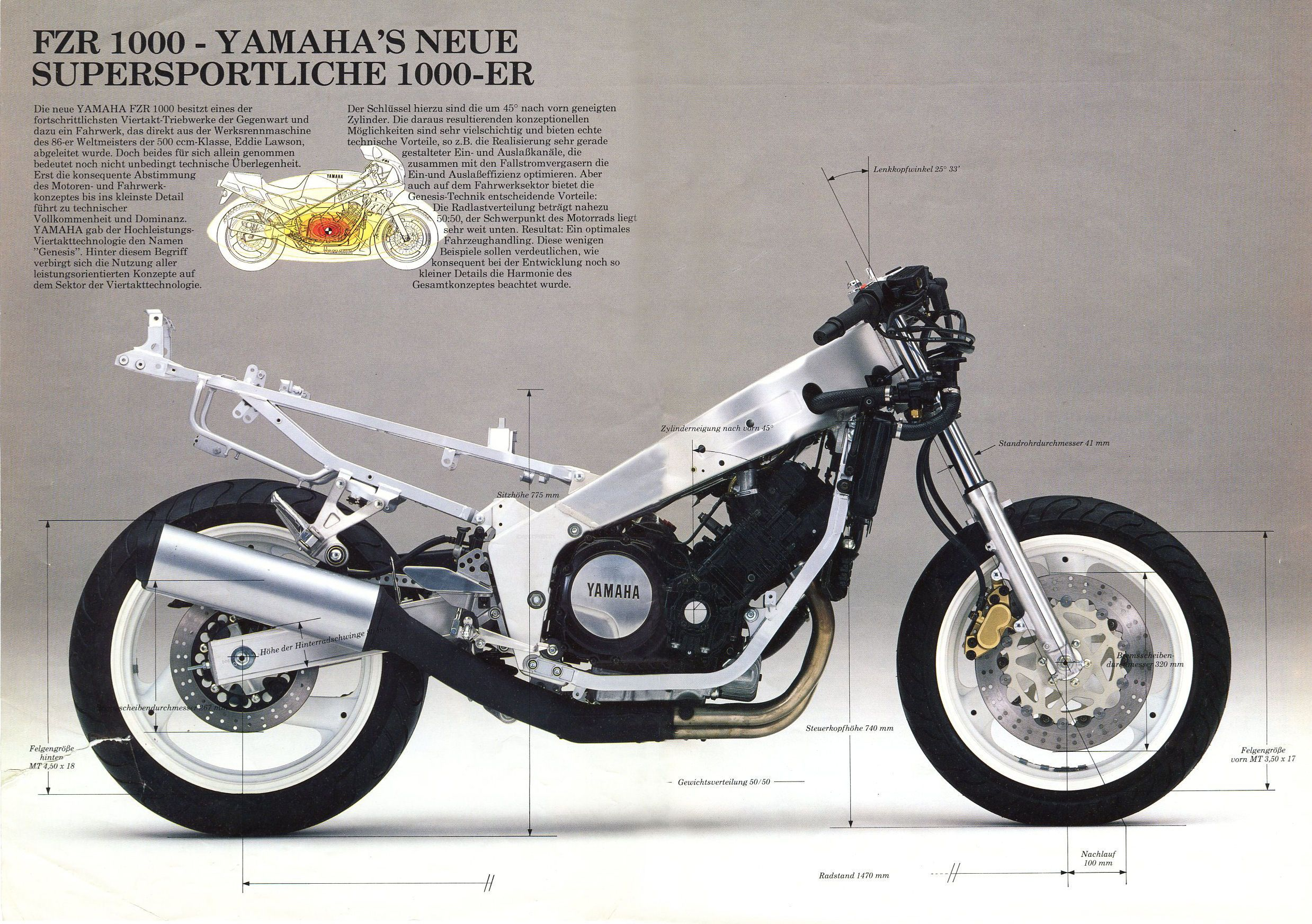 Yamaha Fzr 1000 manual Wirirng on